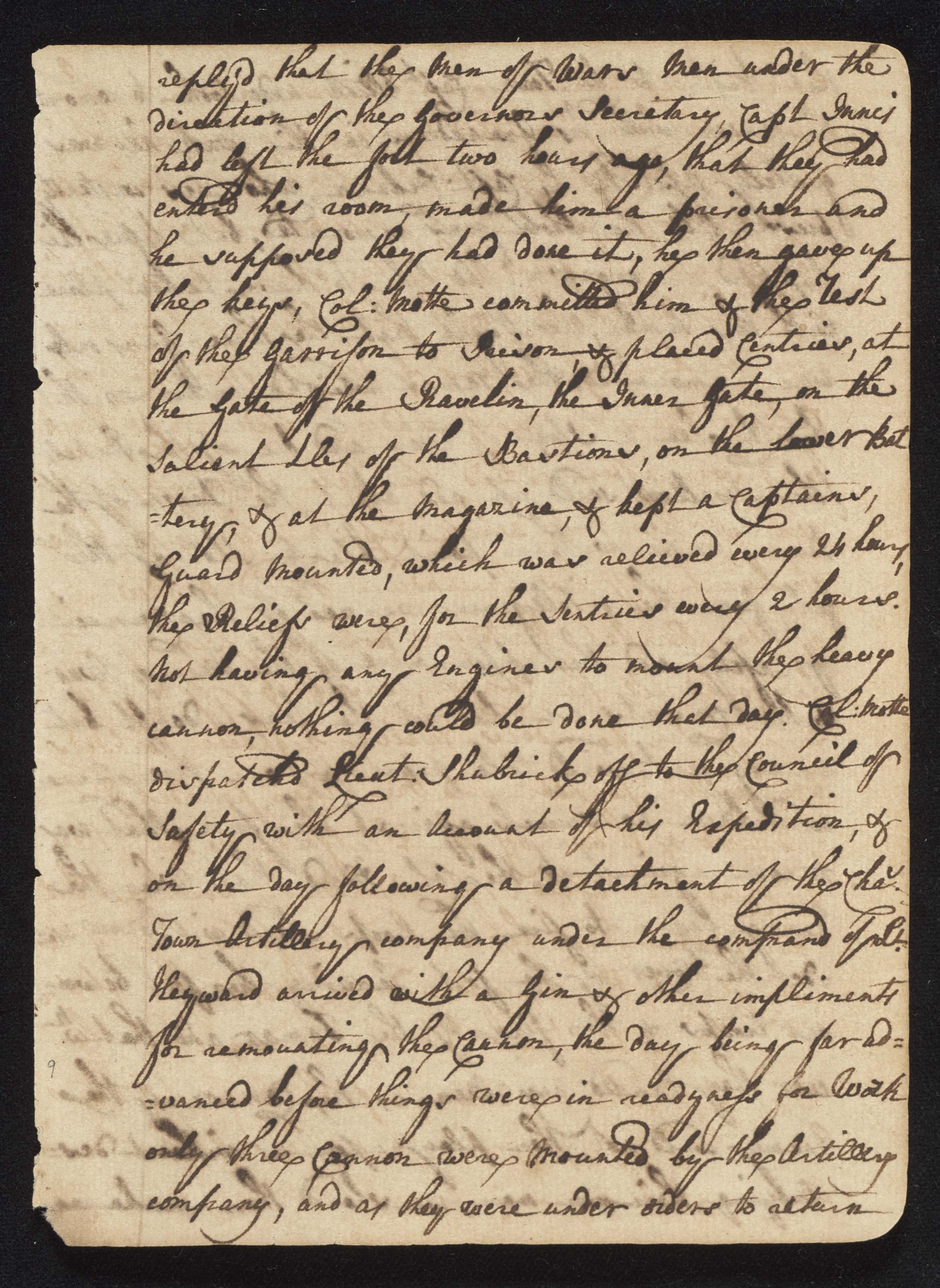 South Carolina Regiment Order Book, Page 17