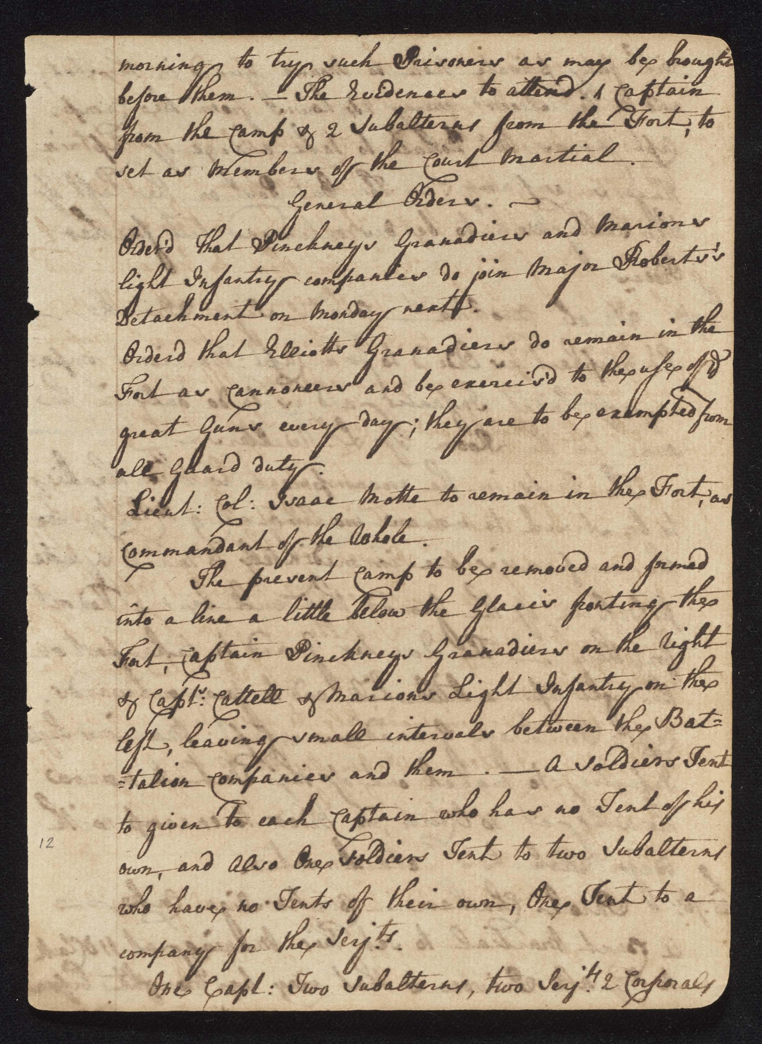 South Carolina Regiment Order Book, Page 23
