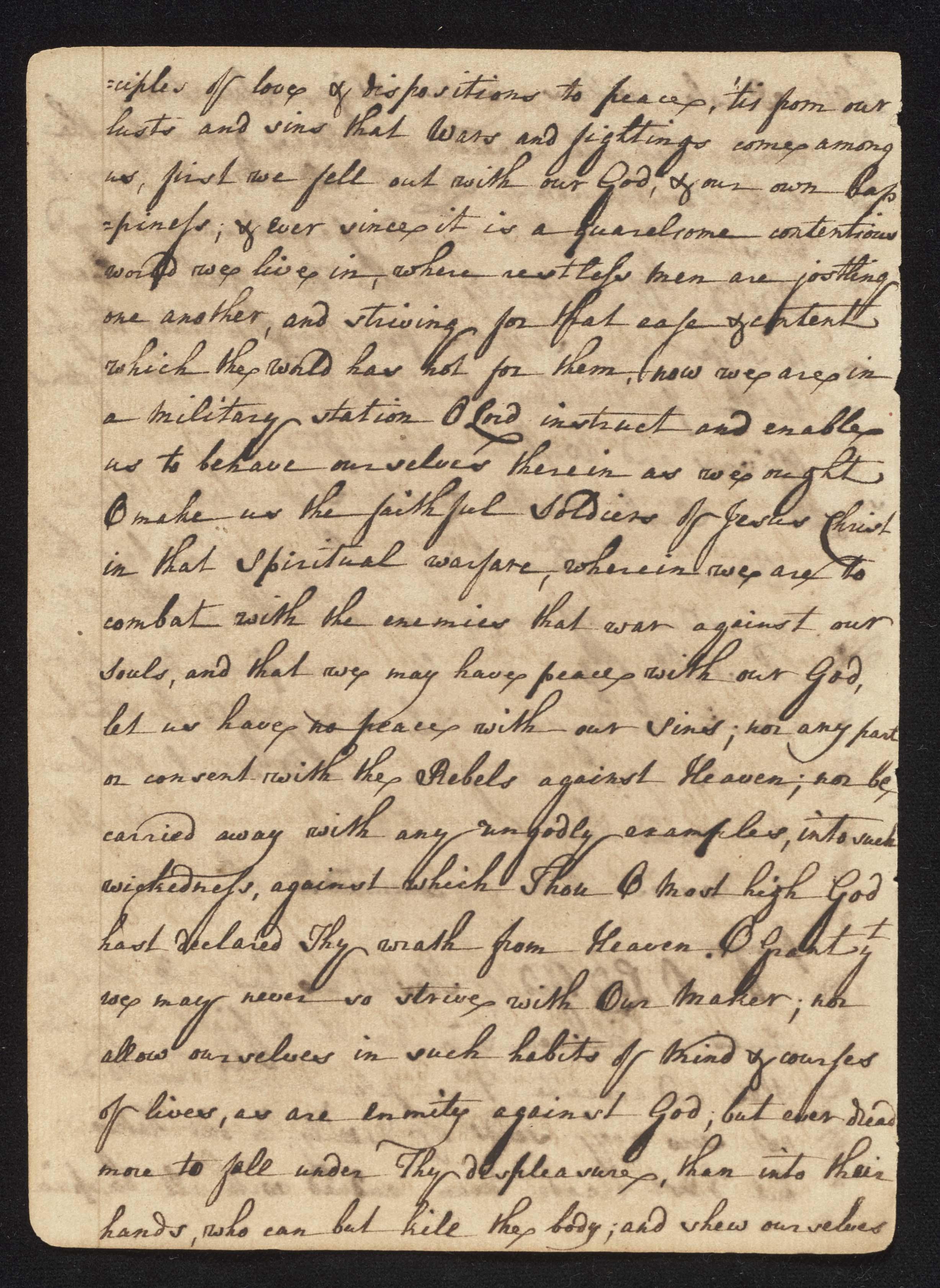 South Carolina Regiment Order Book, Page 34