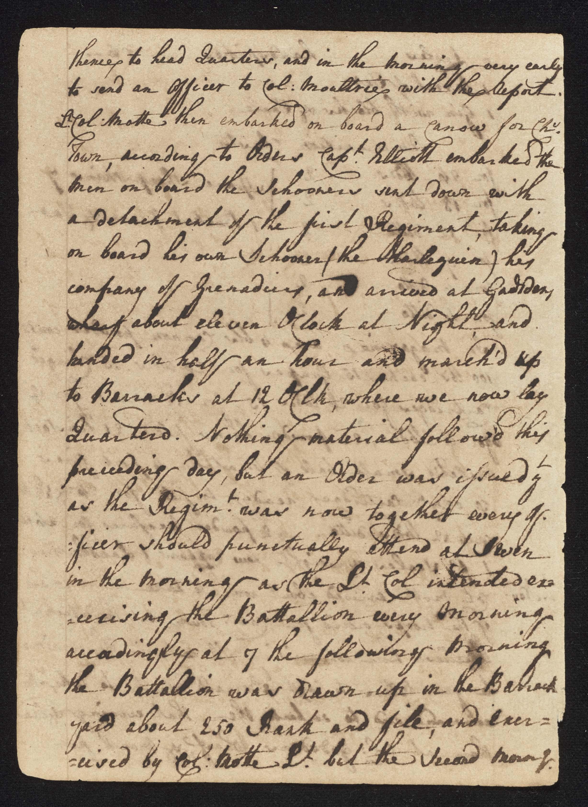 South Carolina Regiment Order Book, Page 44