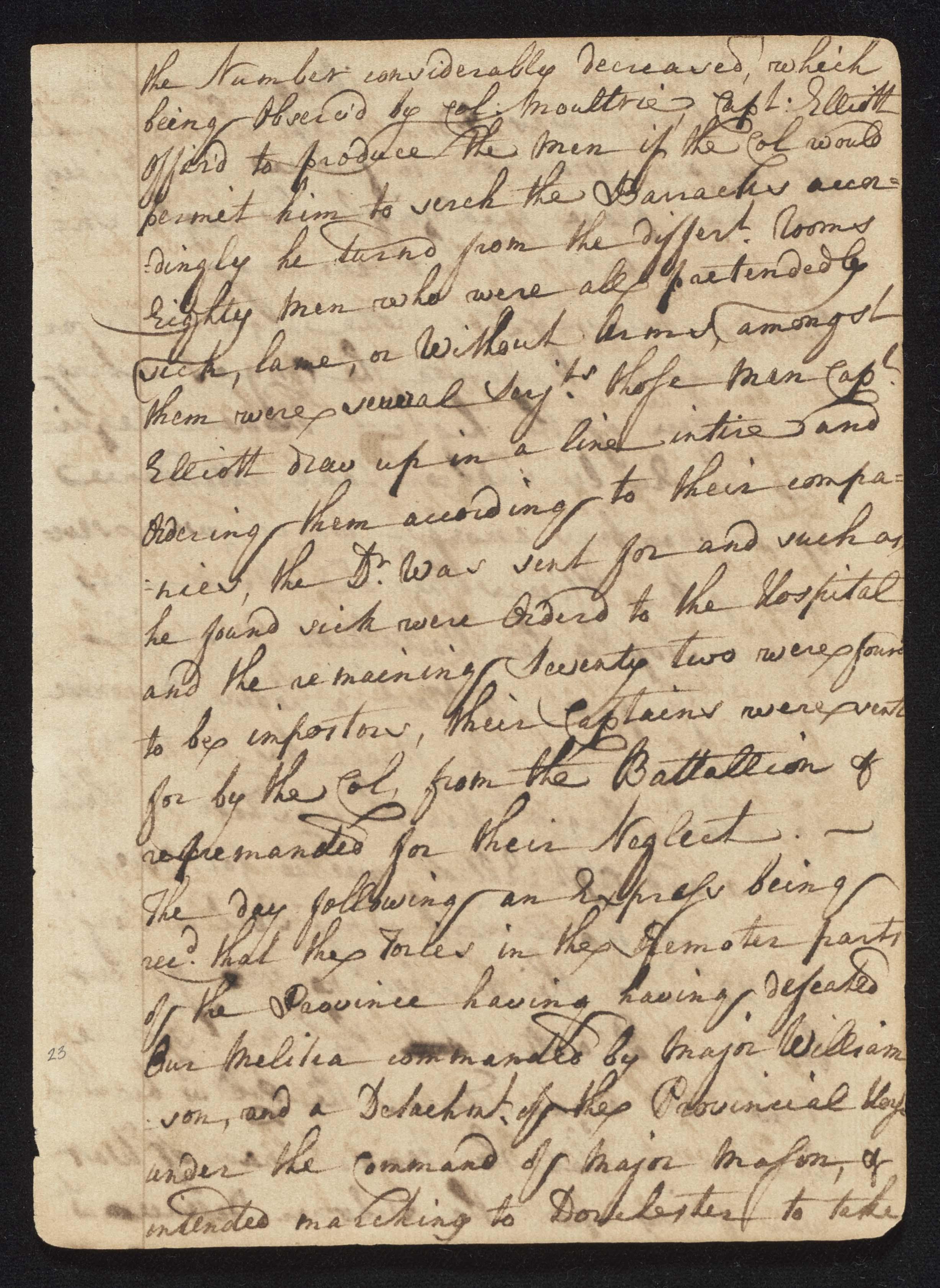 South Carolina Regiment Order Book, Page 45