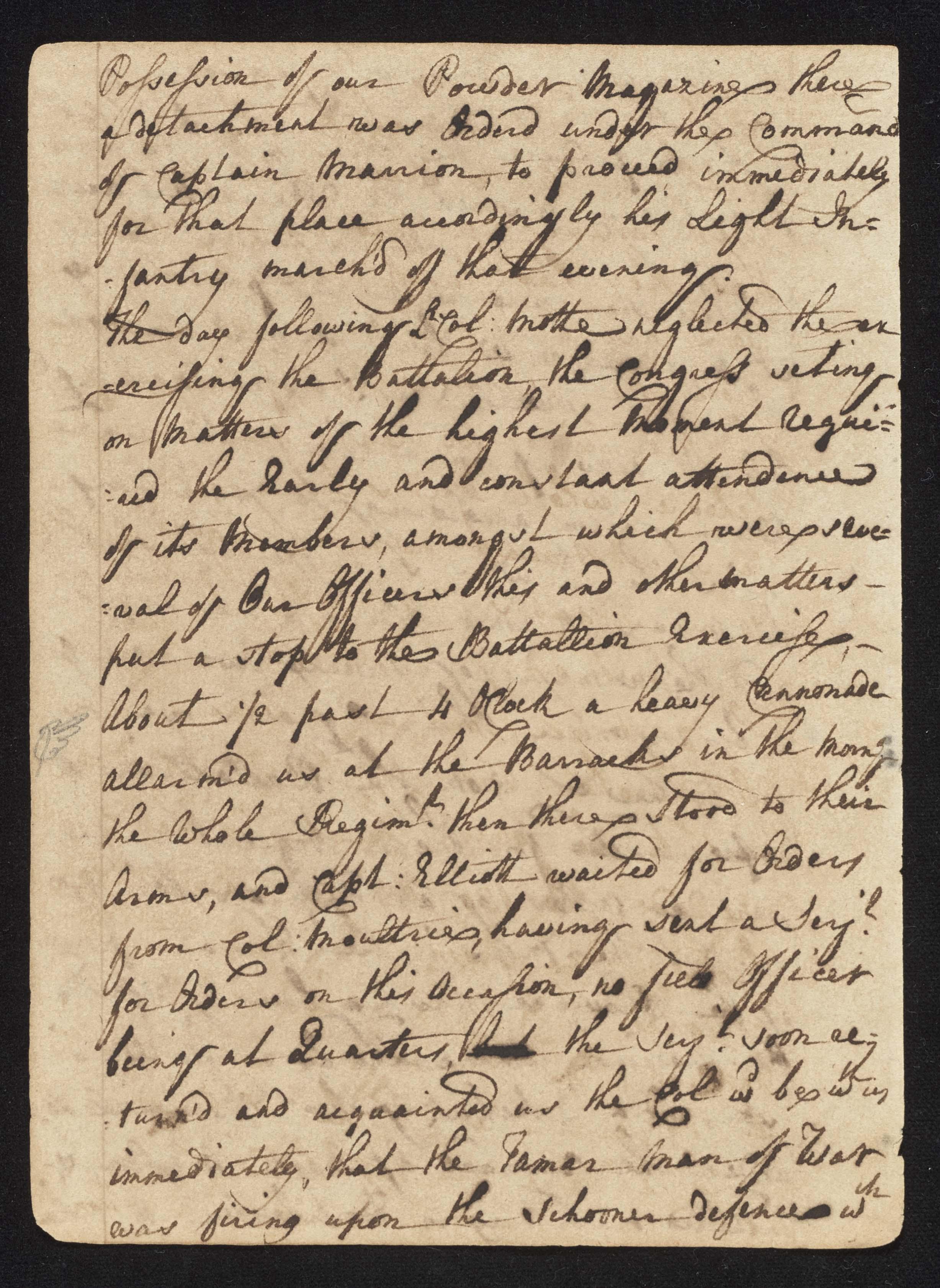 South Carolina Regiment Order Book, Page 46