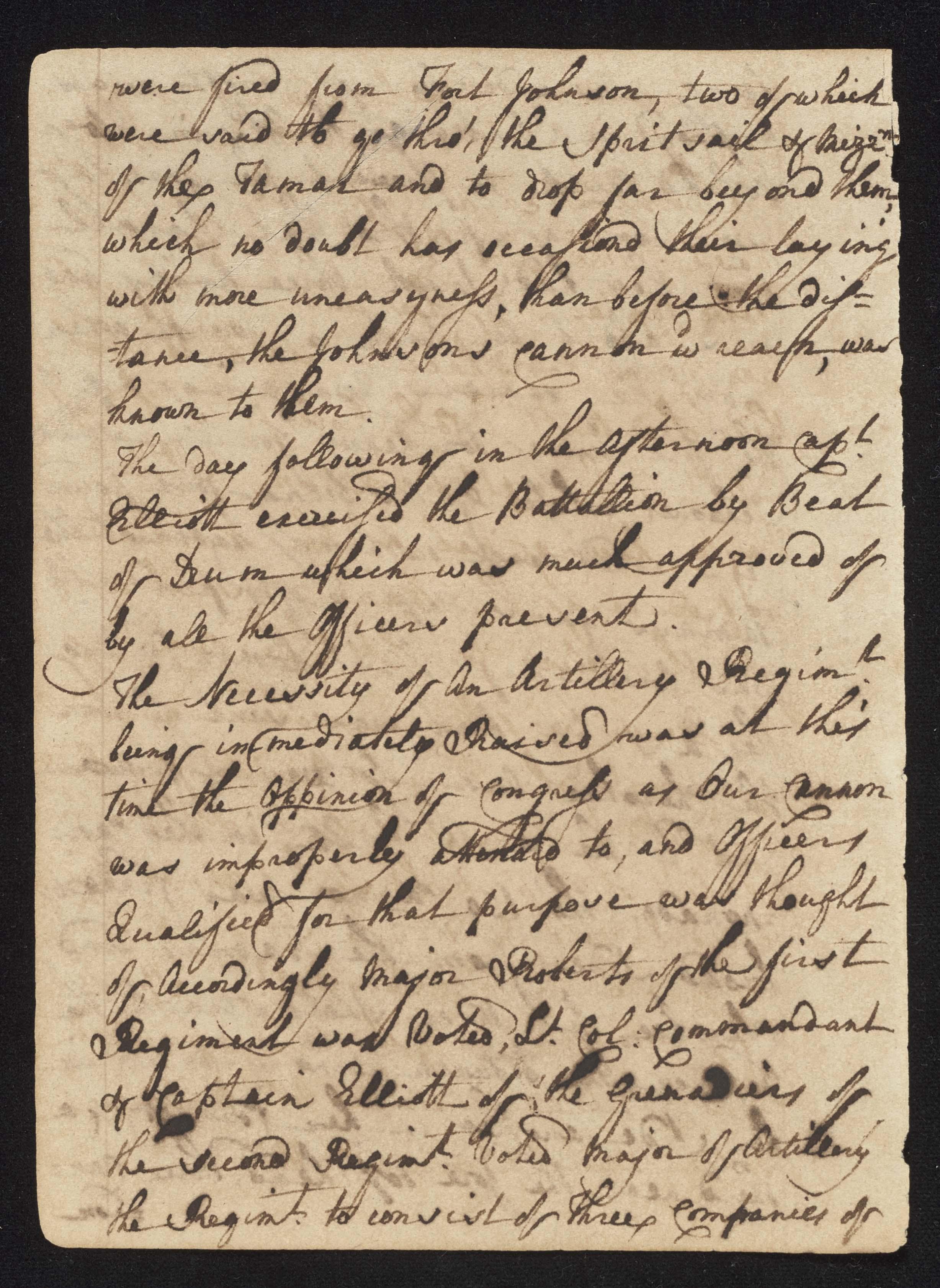 South Carolina Regiment Order Book, Page 48
