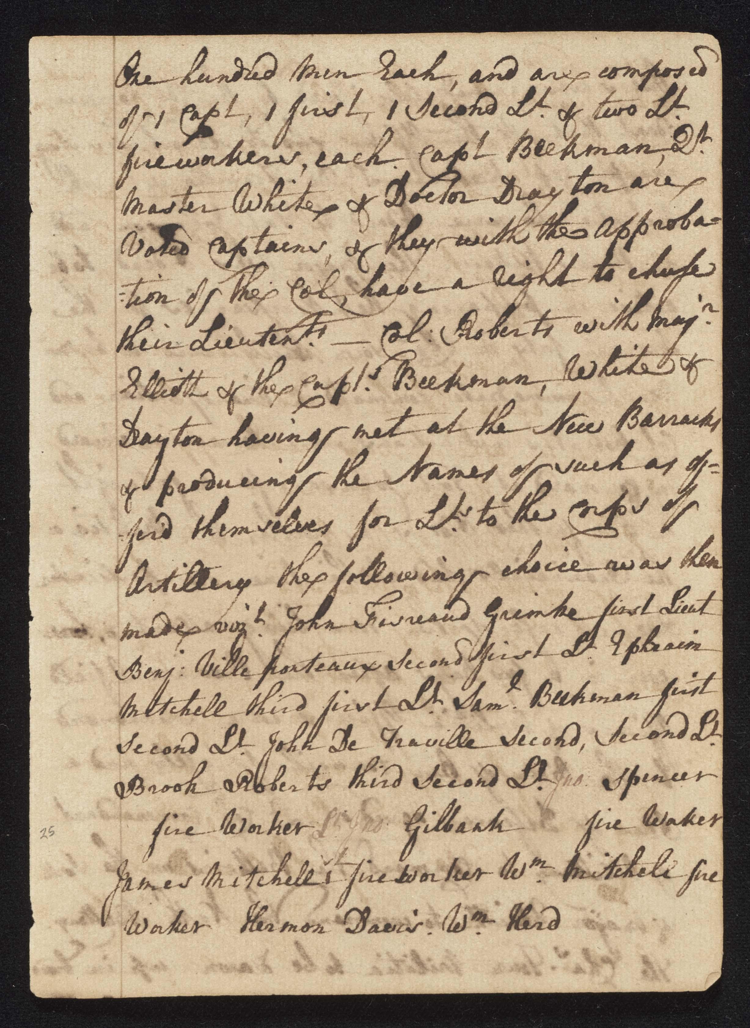 South Carolina Regiment Order Book, Page 49