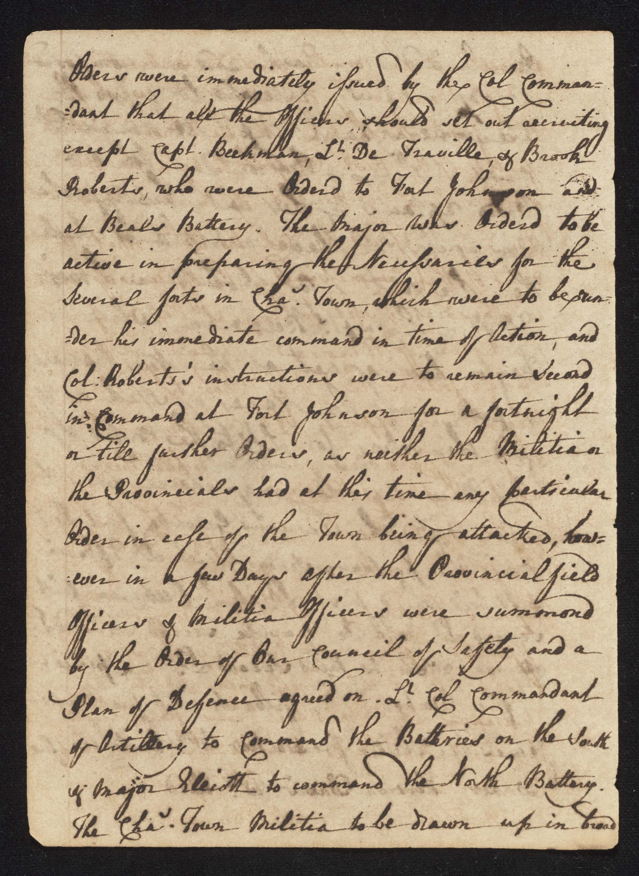 South Carolina Regiment Order Book, Page 50
