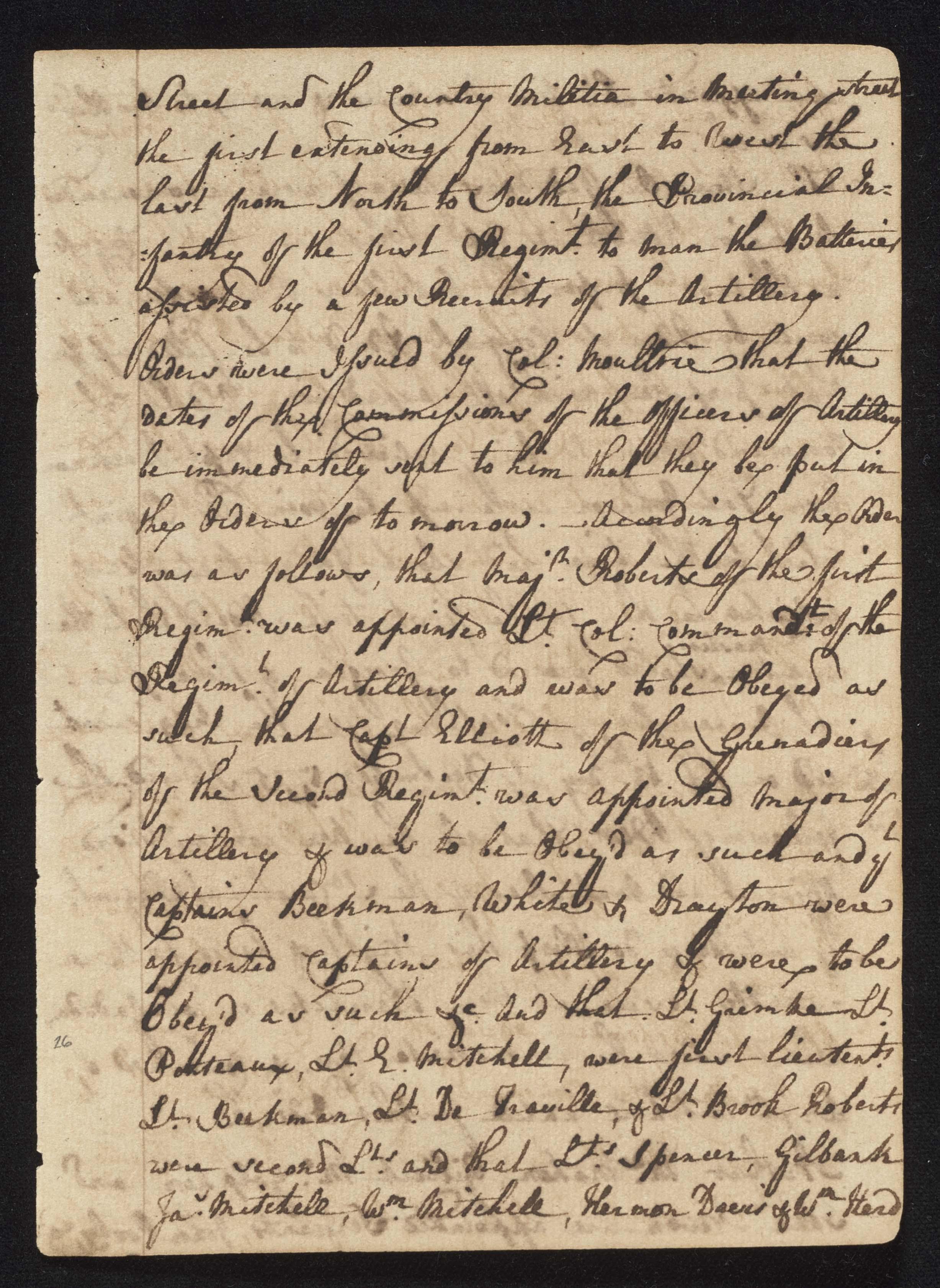South Carolina Regiment Order Book, Page 51