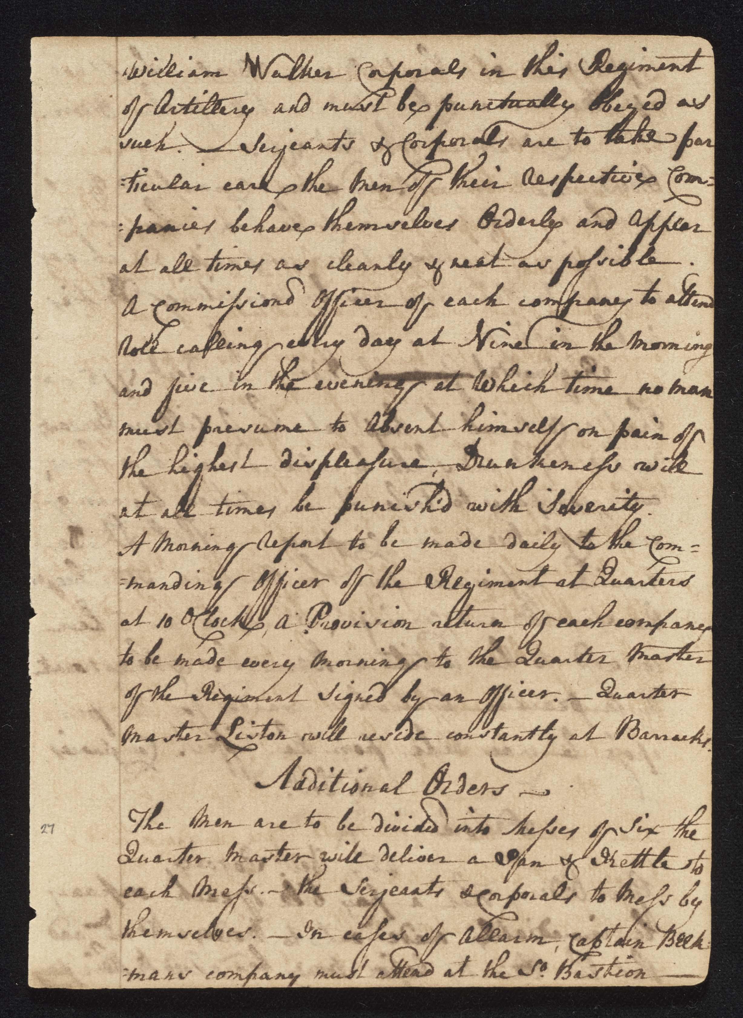 South Carolina Regiment Order Book, Page 53