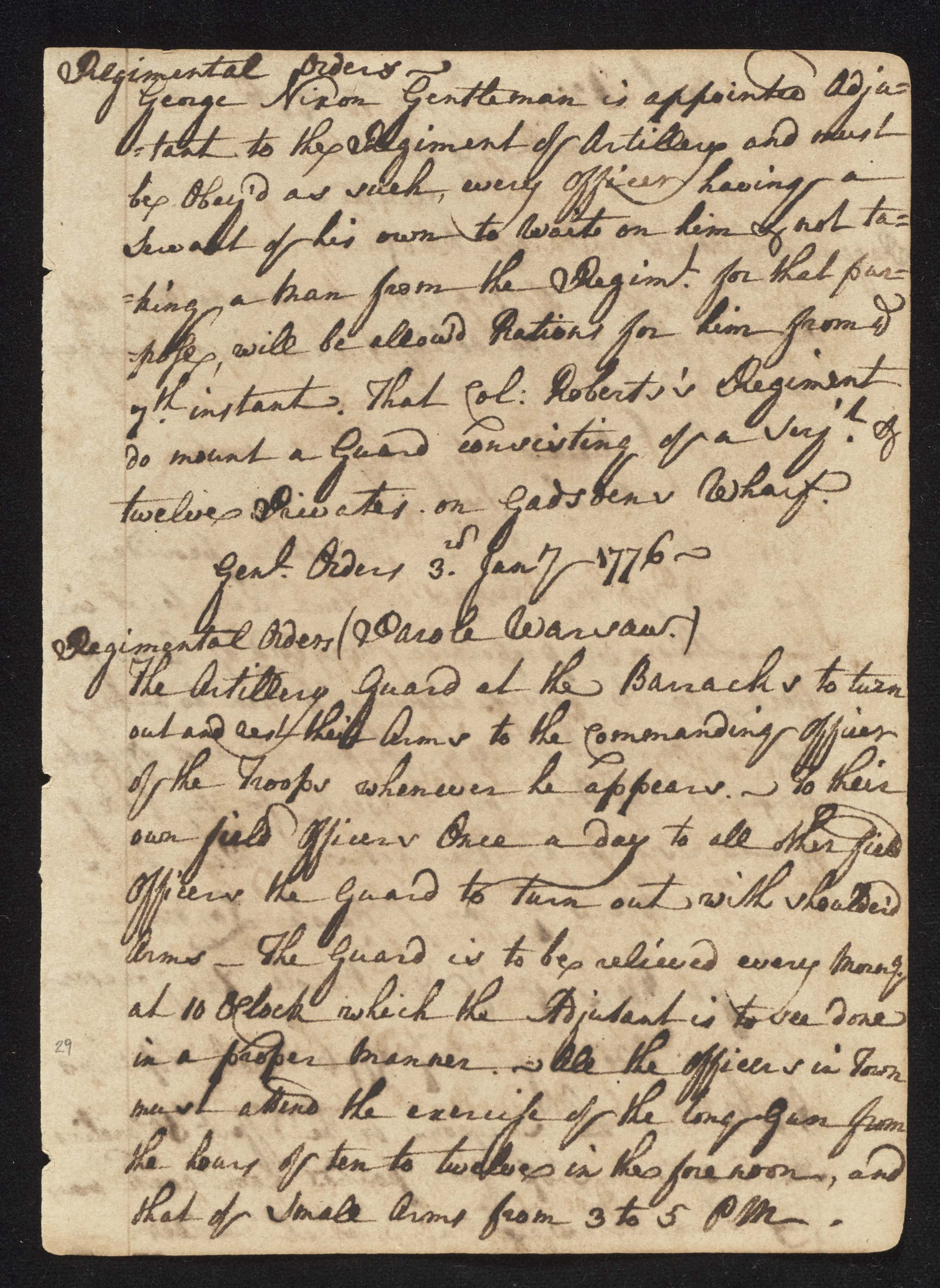 South Carolina Regiment Order Book, Page 57