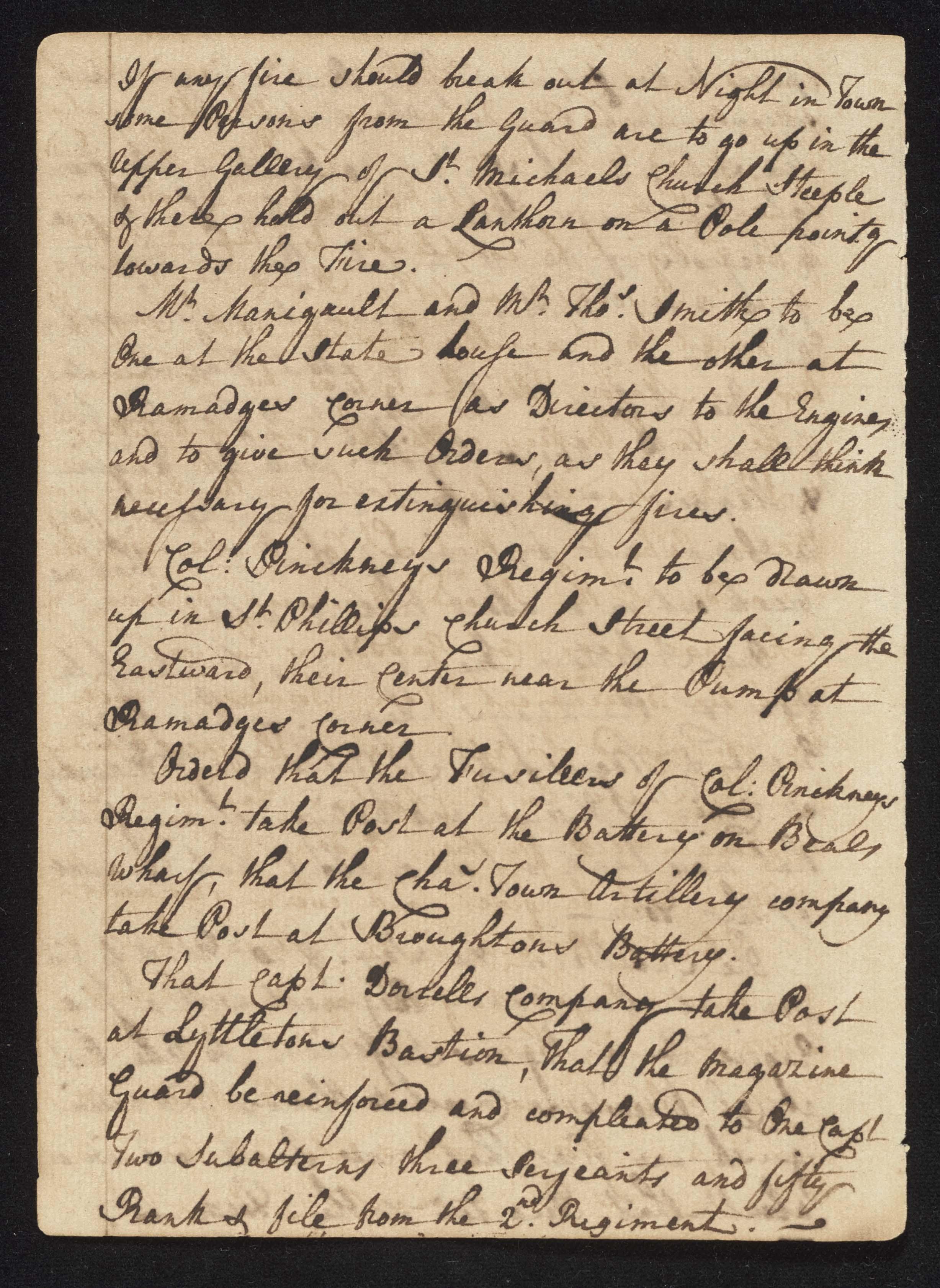 South Carolina Regiment Order Book, Page 62