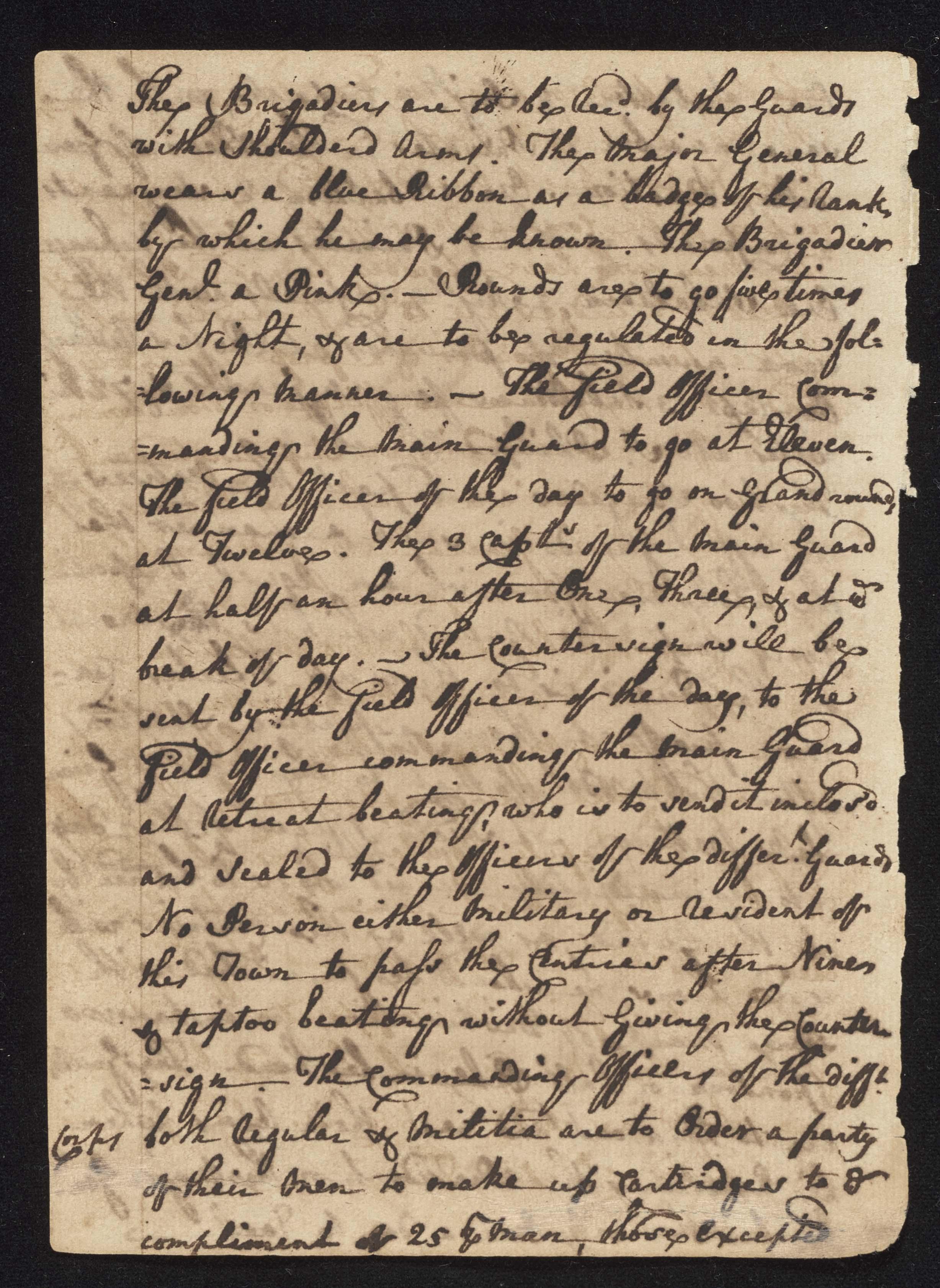 South Carolina Regiment Order Book, Page 116
