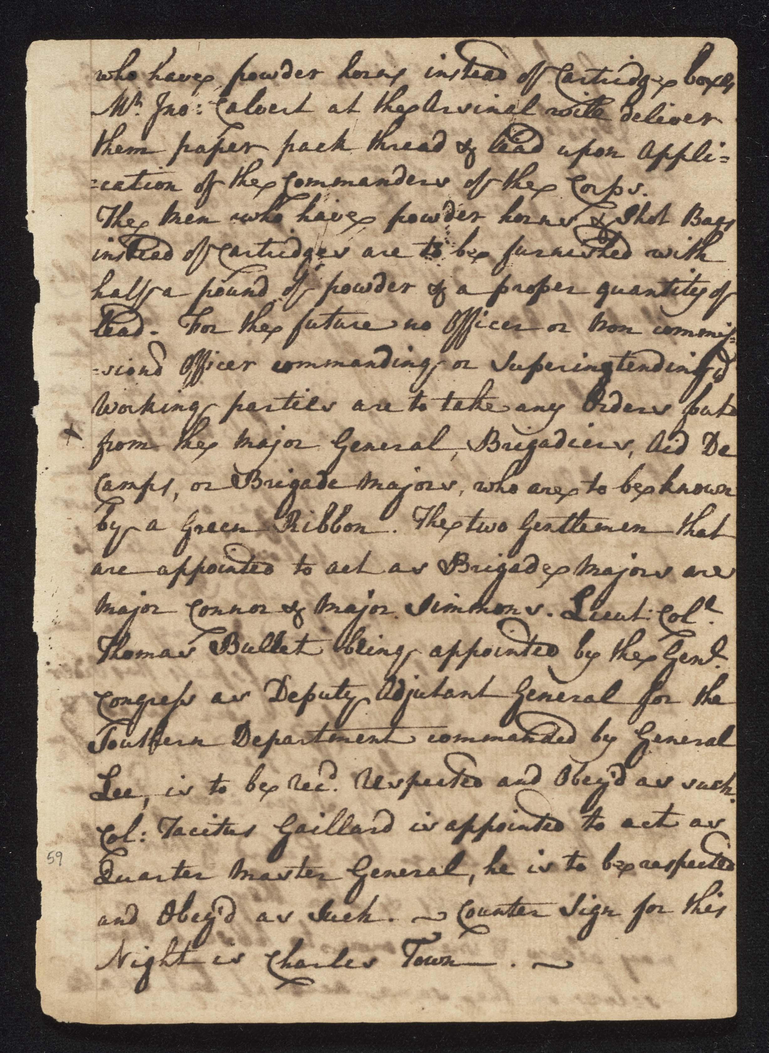 South Carolina Regiment Order Book, Page 117