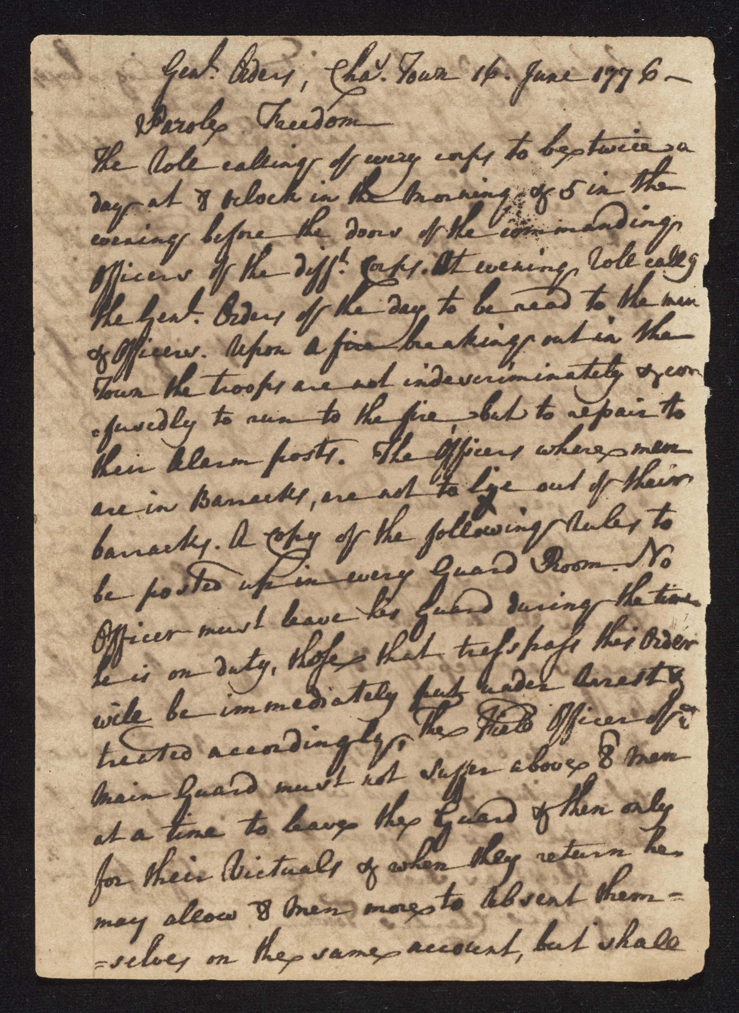 South Carolina Regiment Order Book, Page 118