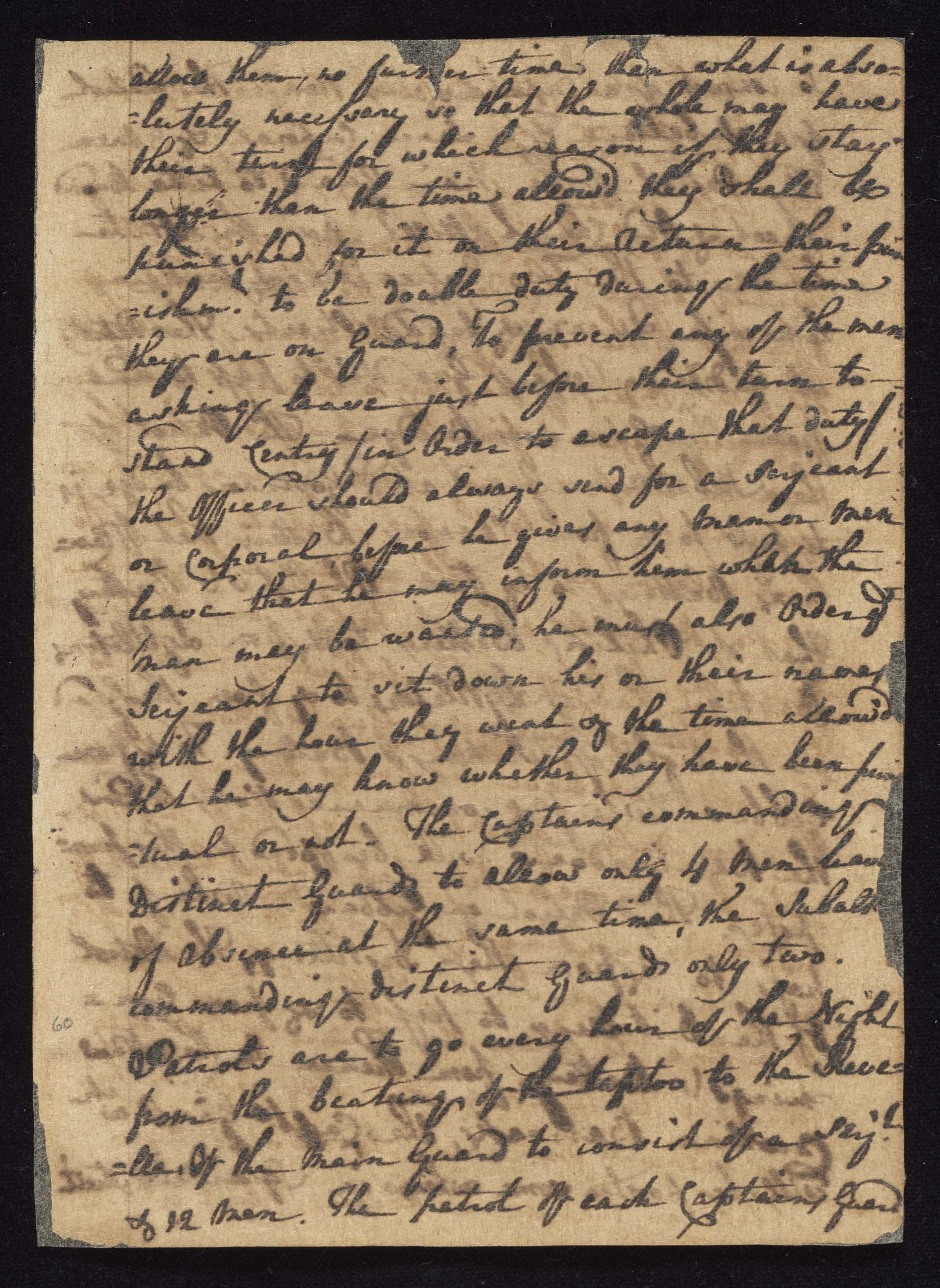 South Carolina Regiment Order Book, Page 119