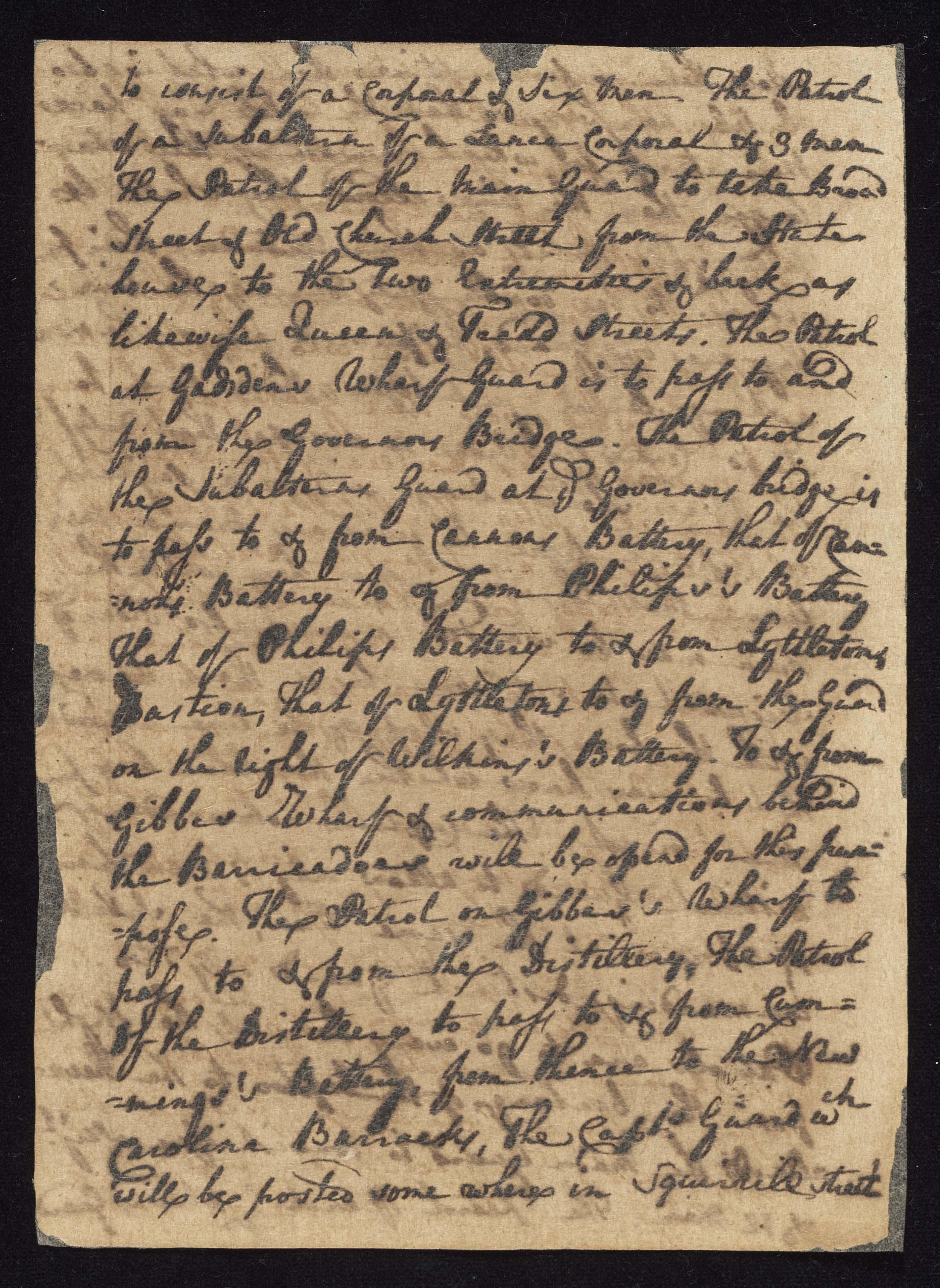 South Carolina Regiment Order Book, Page 120