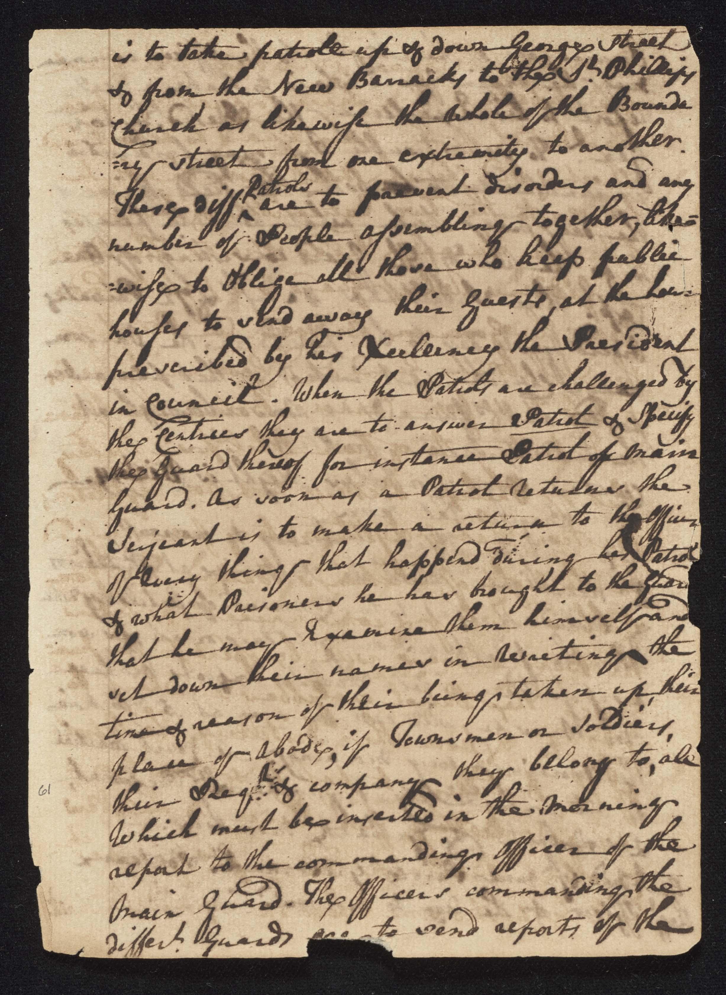 South Carolina Regiment Order Book, Page 121