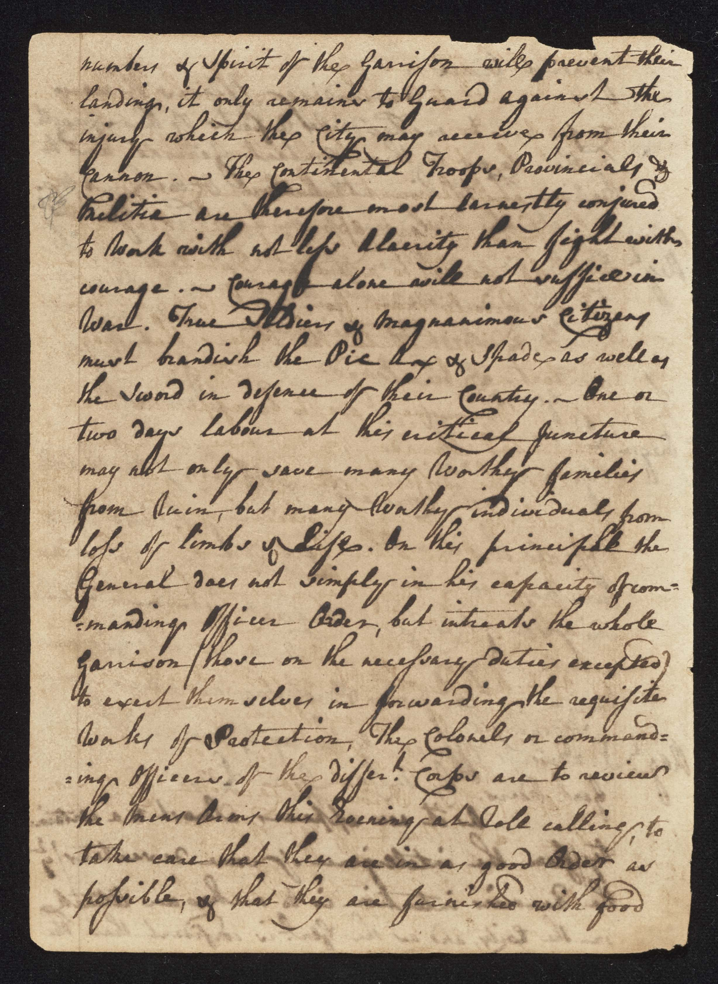 South Carolina Regiment Order Book, Page 124