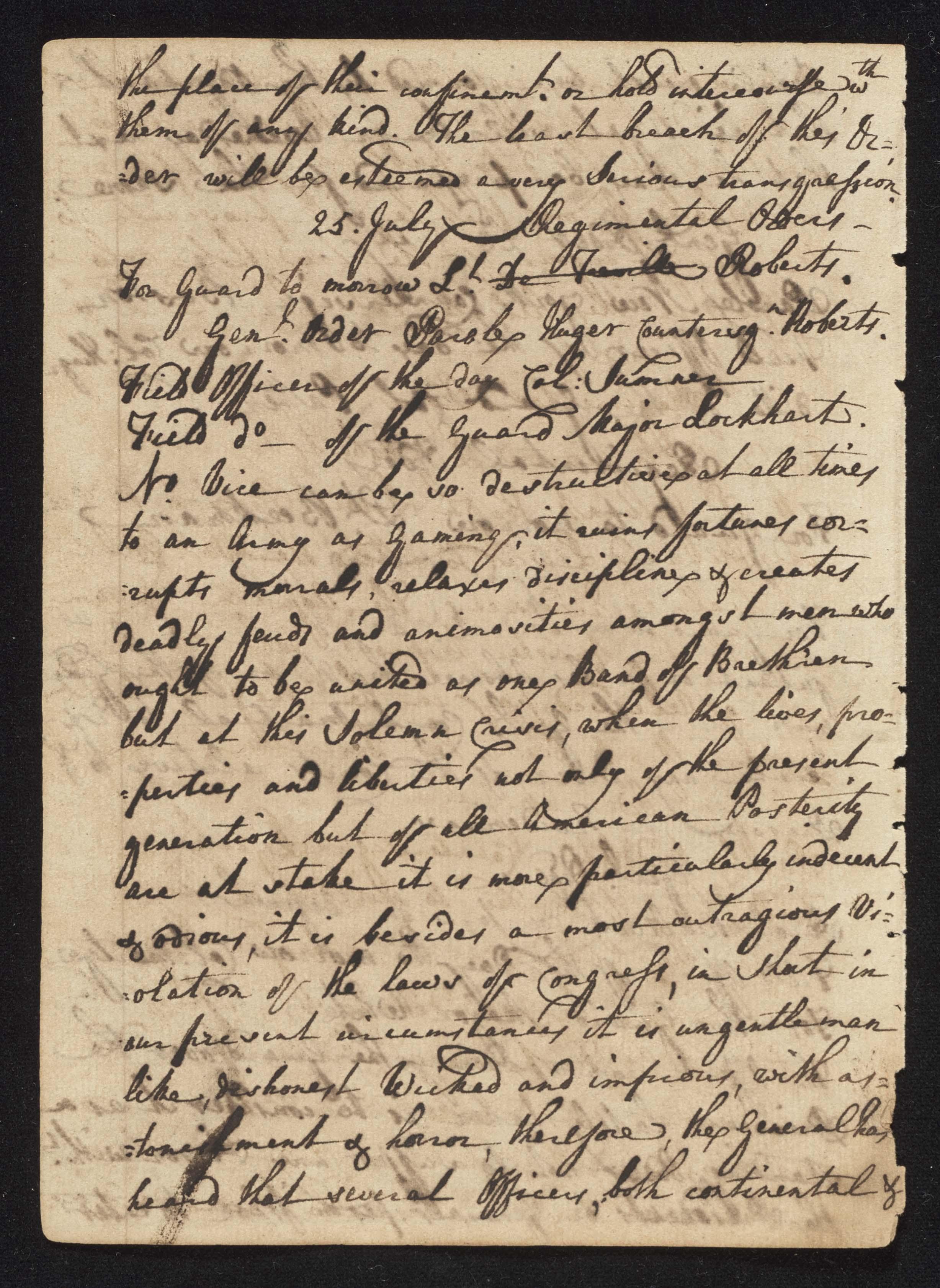 South Carolina Regiment Order Book, Page 148