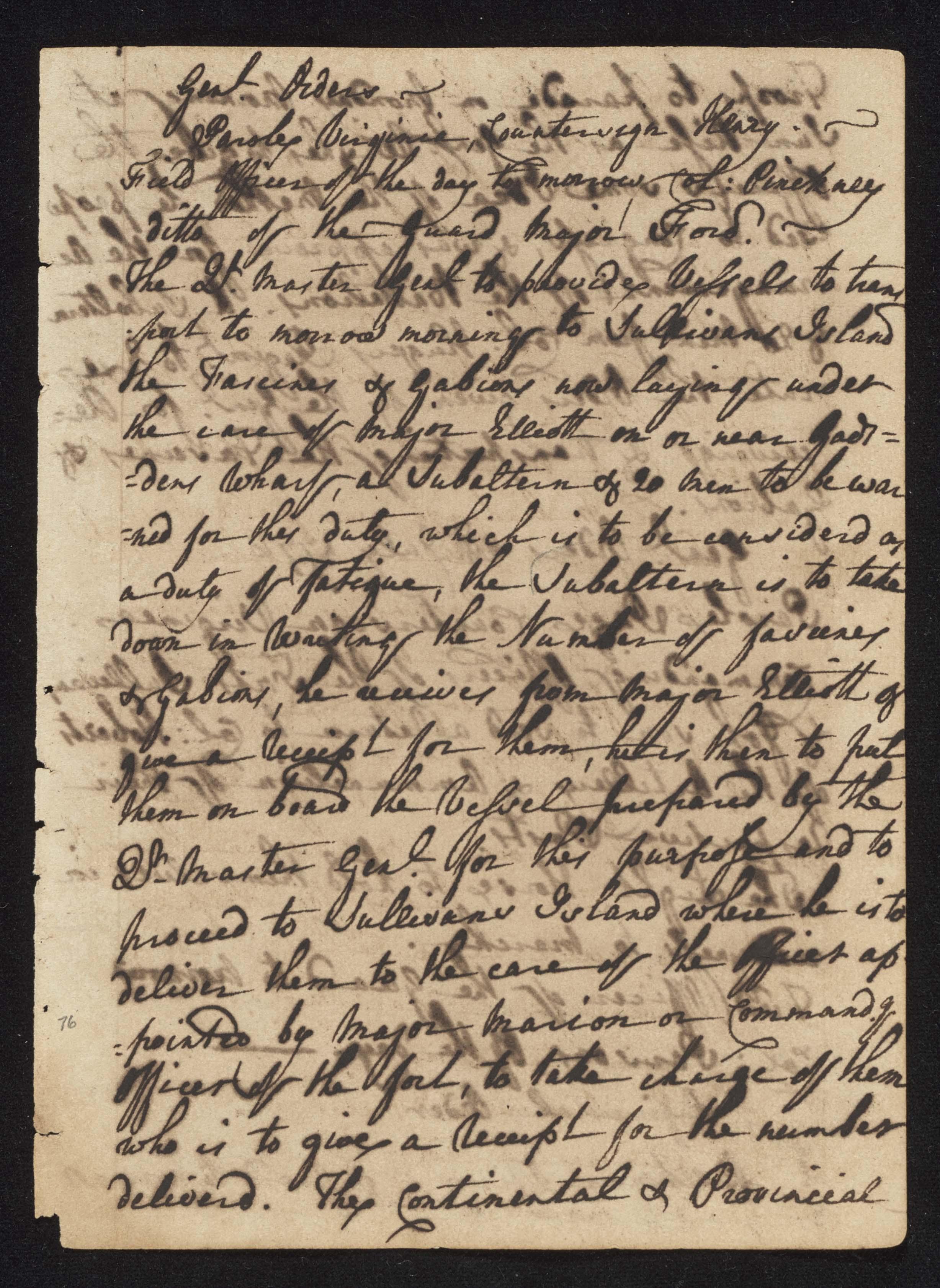 South Carolina Regiment Order Book, Page 151