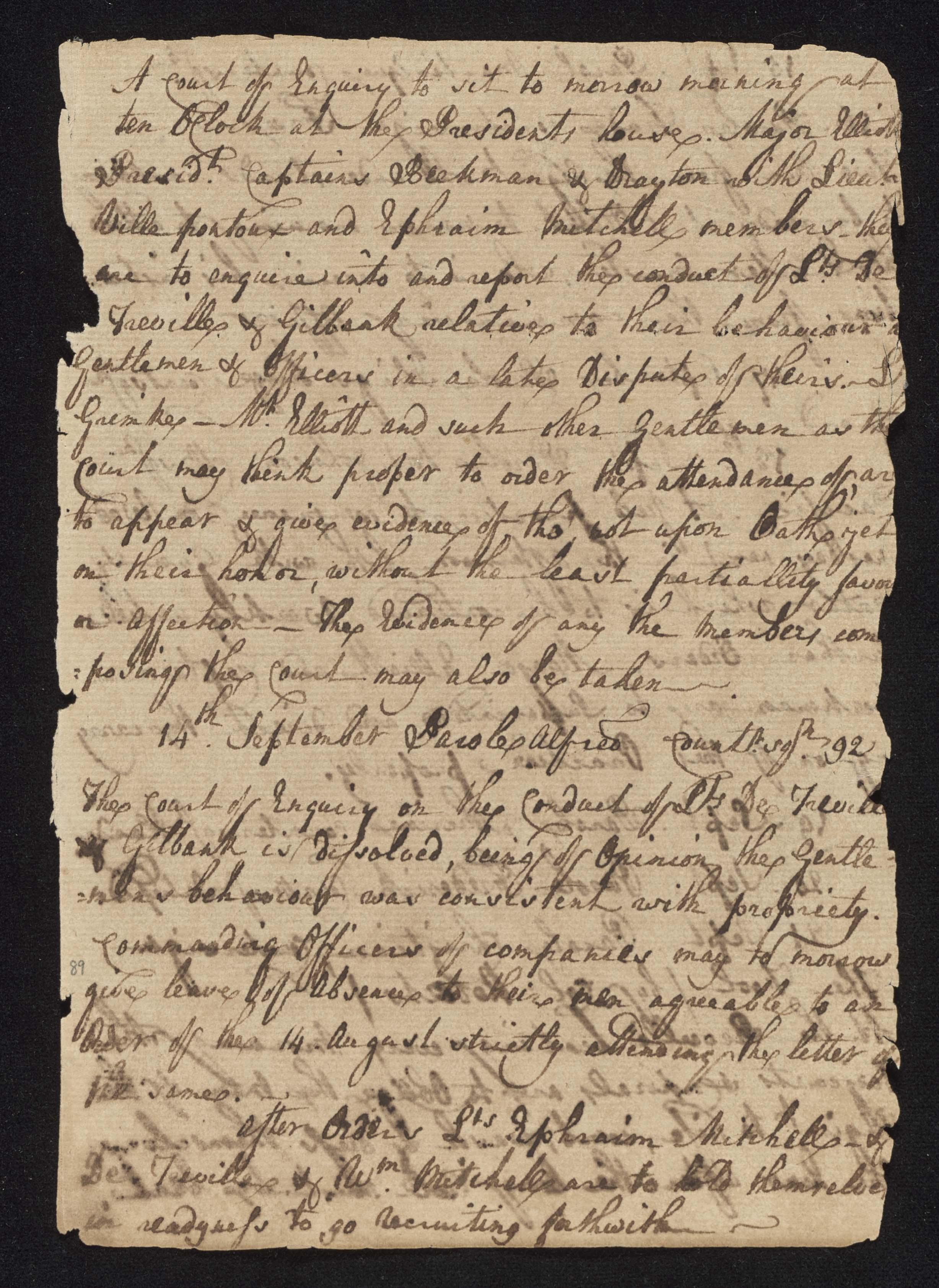 South Carolina Regiment Order Book, Page 177
