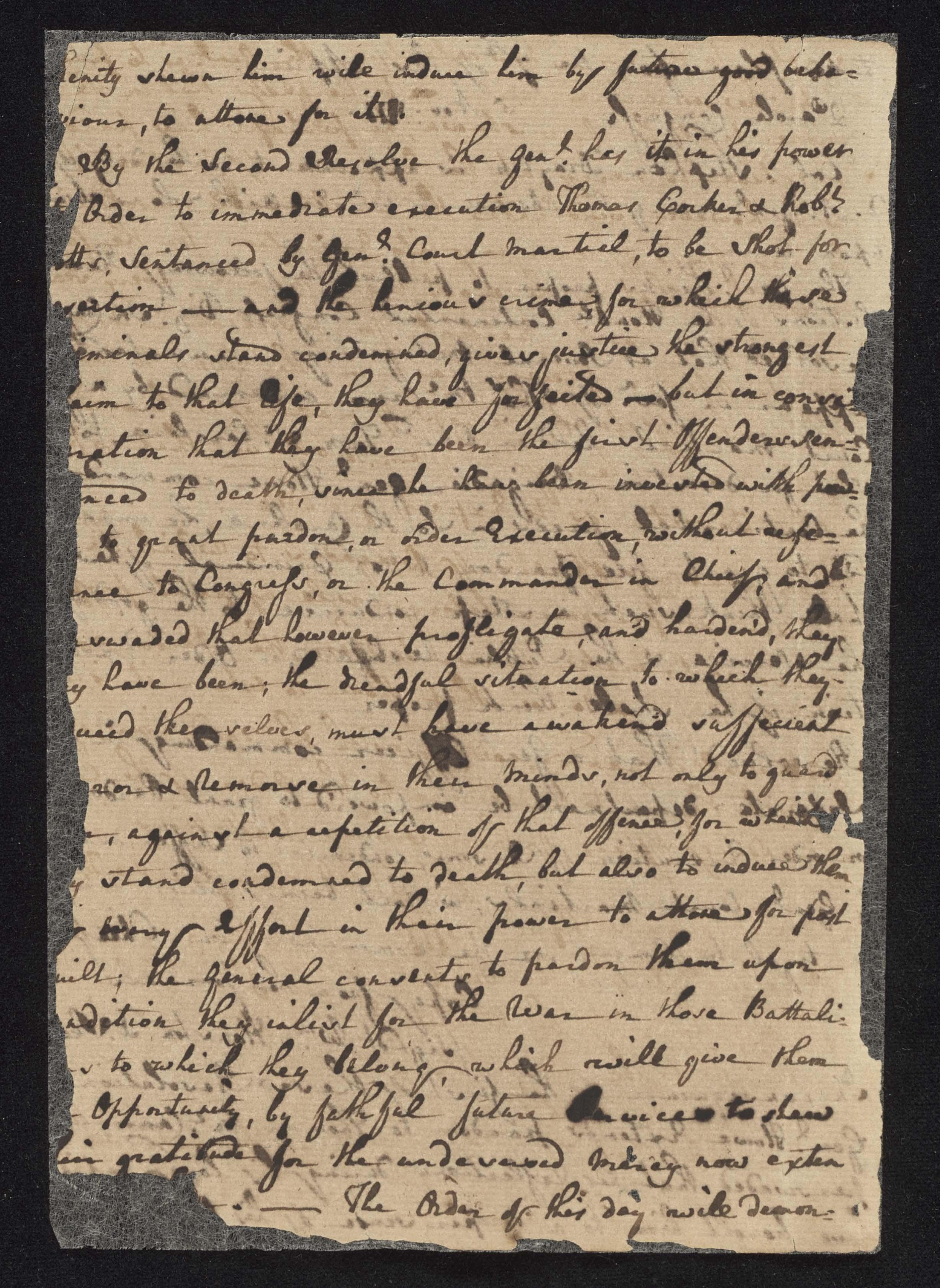 South Carolina Regiment Order Book, Page 198
