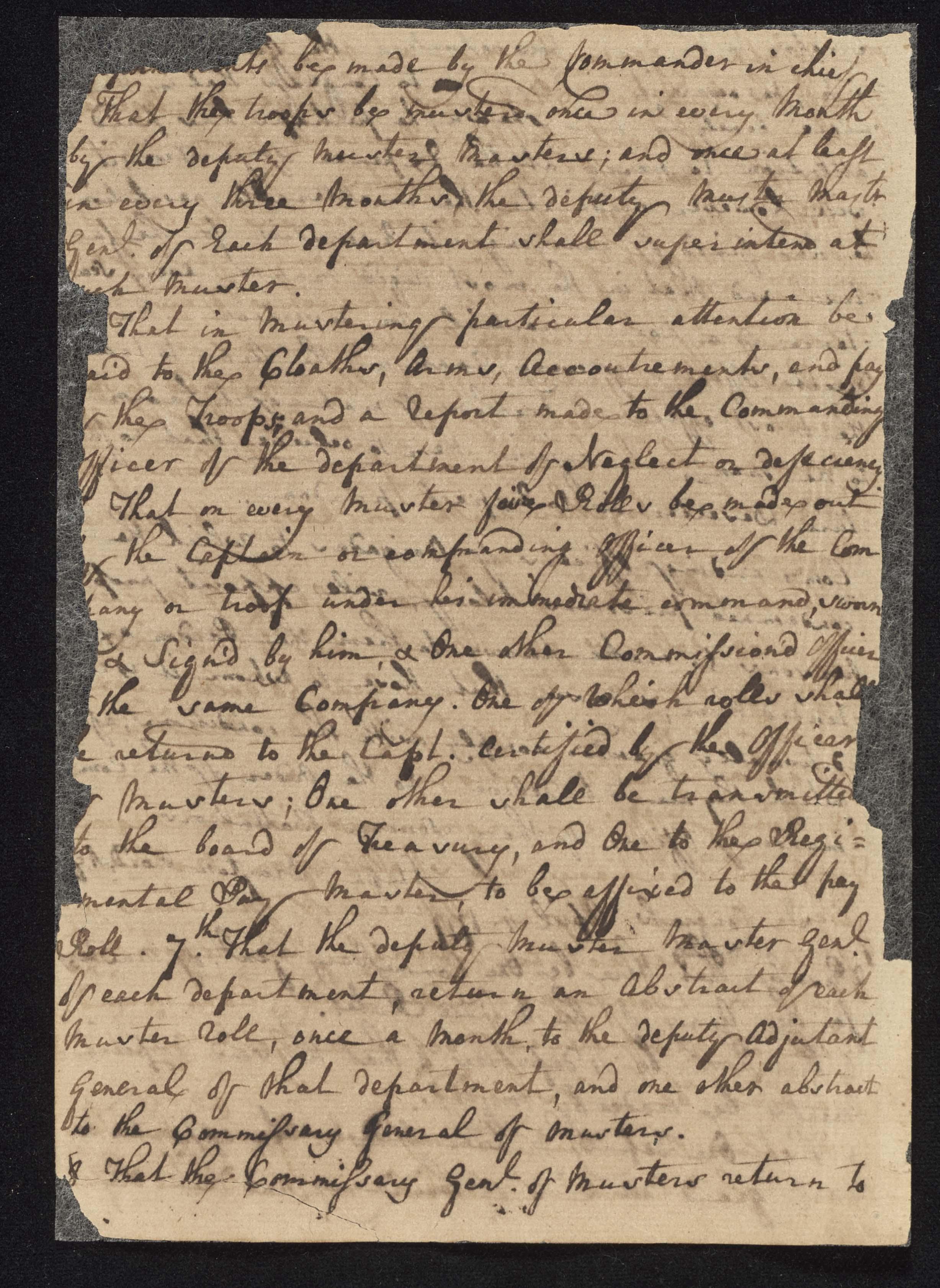 South Carolina Regiment Order Book, Page 200