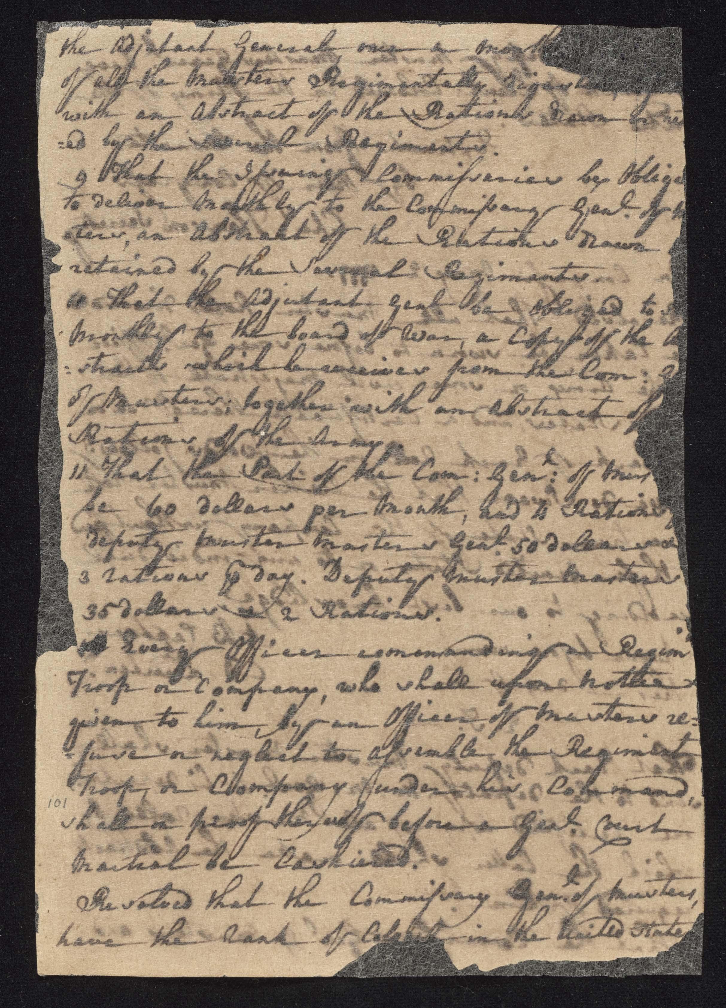 South Carolina Regiment Order Book, Page 201