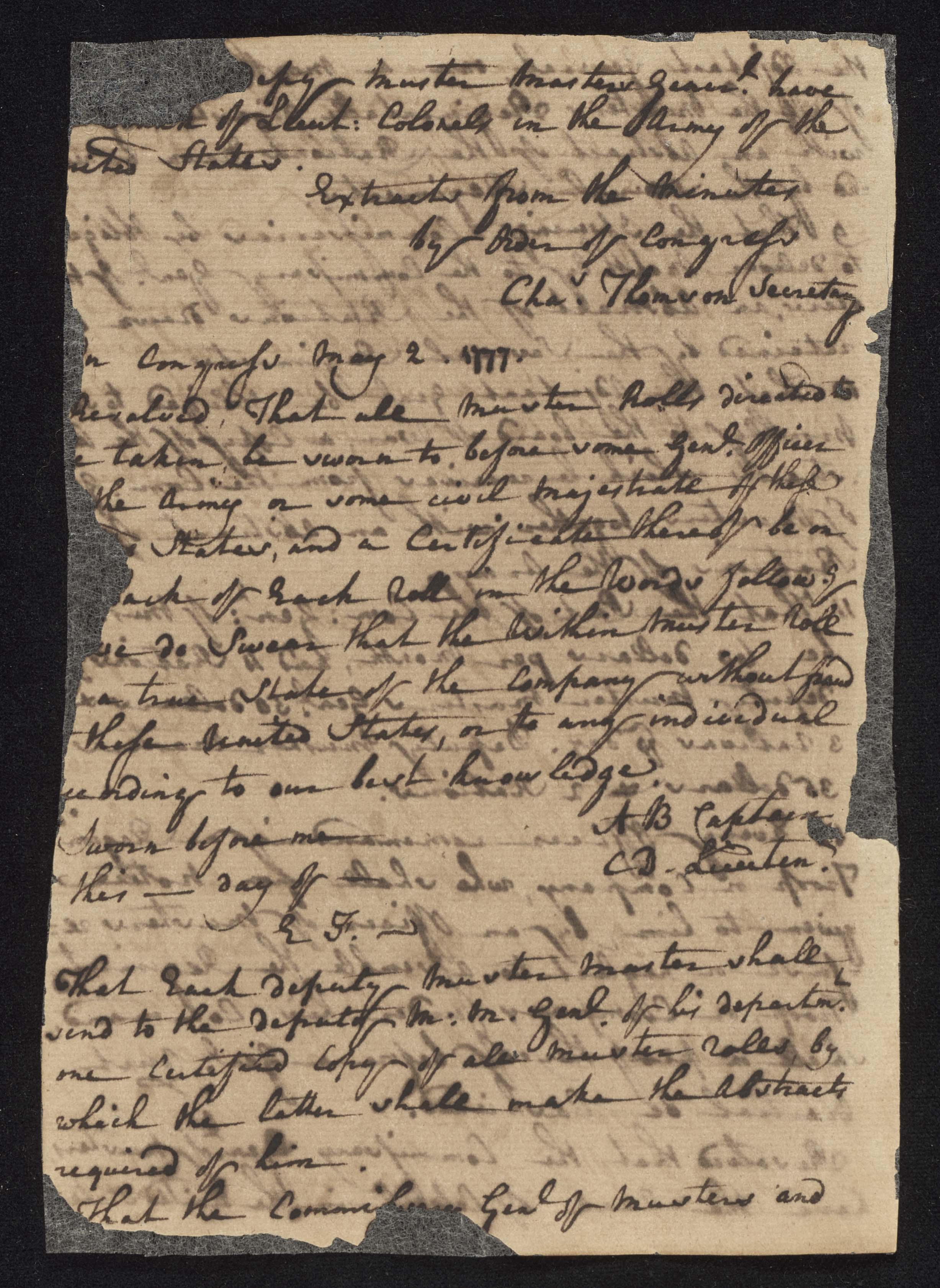 South Carolina Regiment Order Book, Page 202