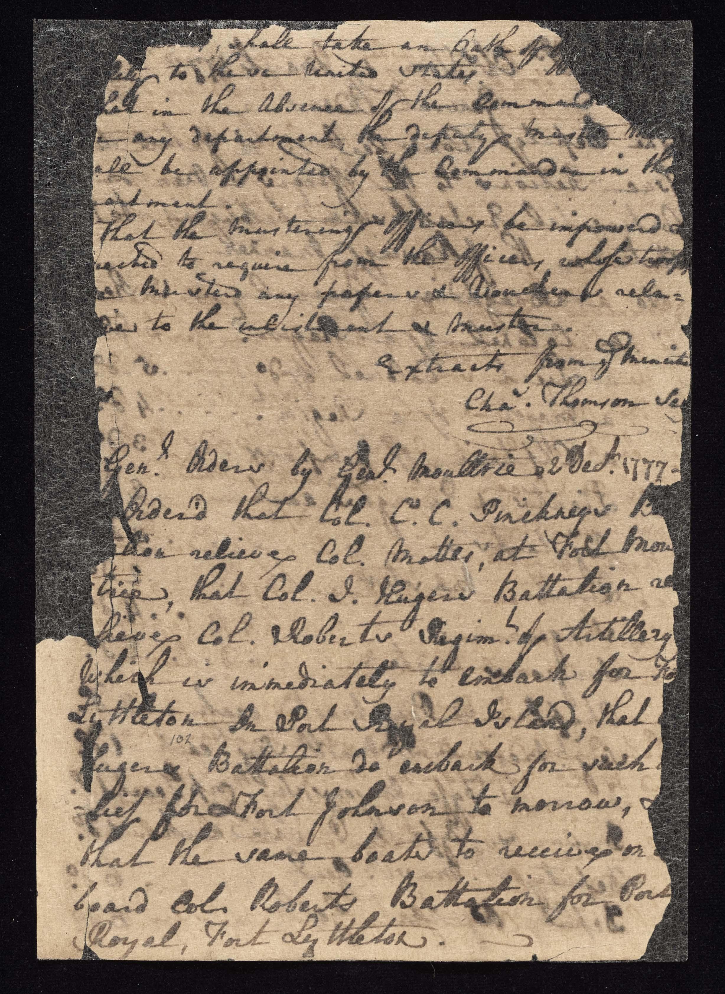 South Carolina Regiment Order Book, Page 203