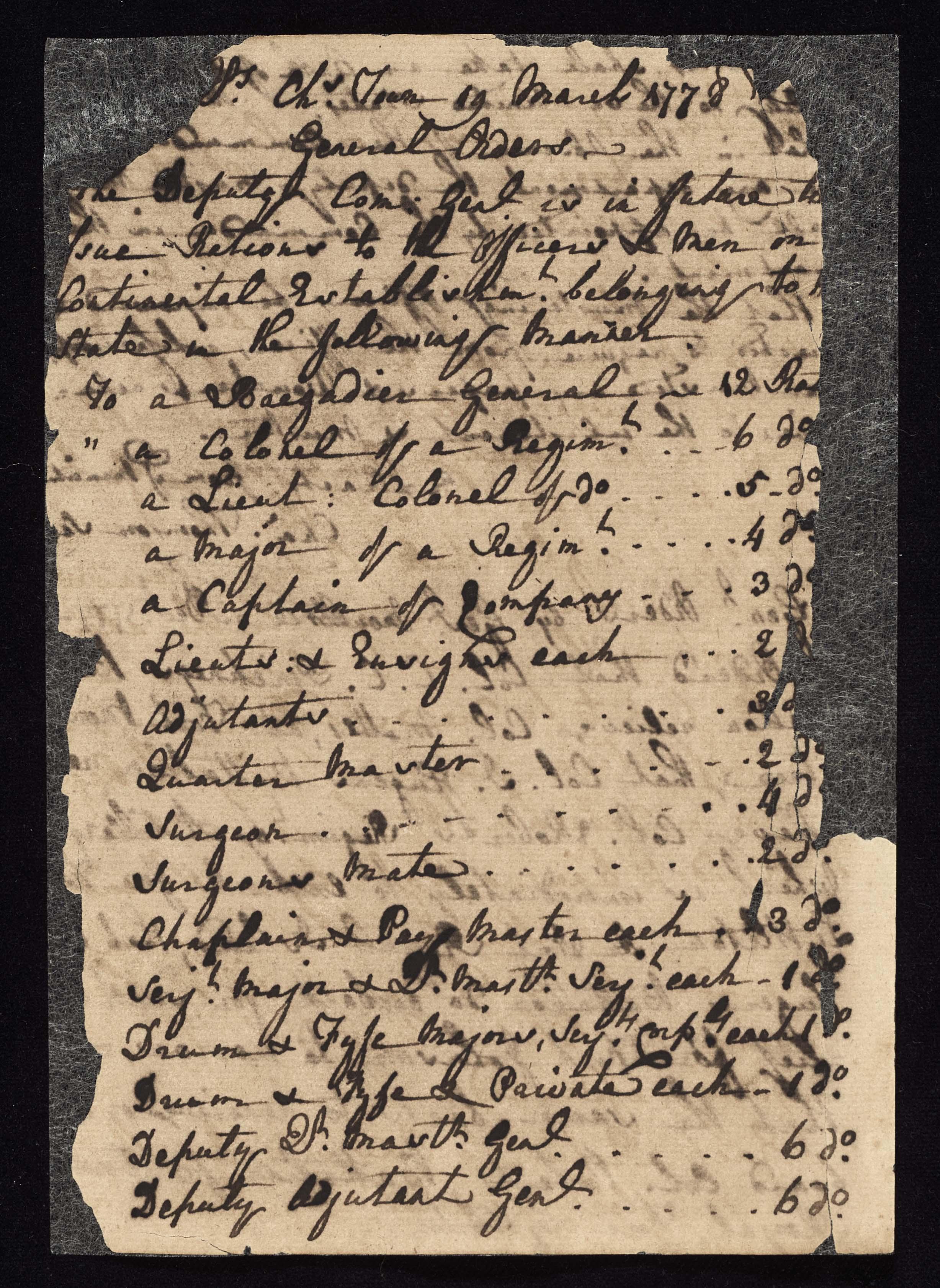 South Carolina Regiment Order Book, Page 204
