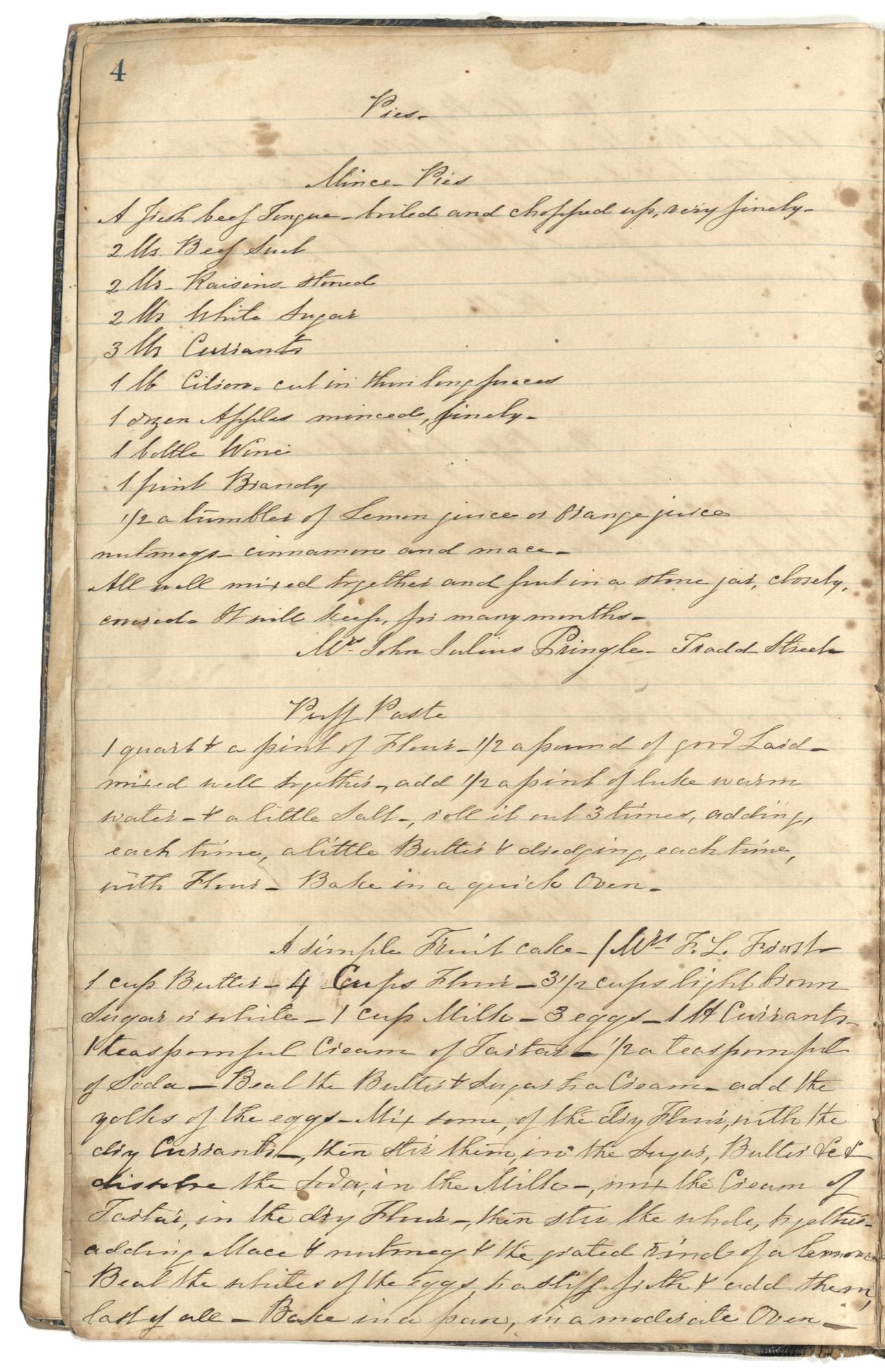 Mary Motte Alston Pringle Receipt Book, Page 8