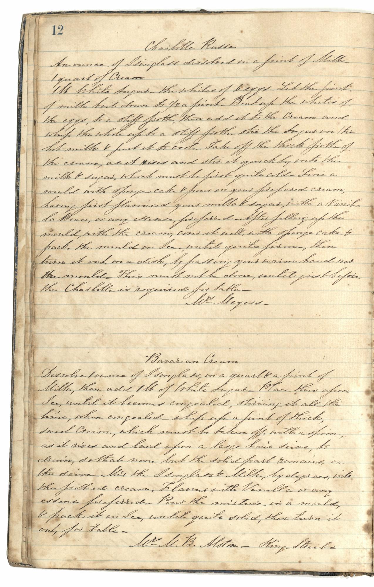 Mary Motte Alston Pringle Receipt Book, Page 16