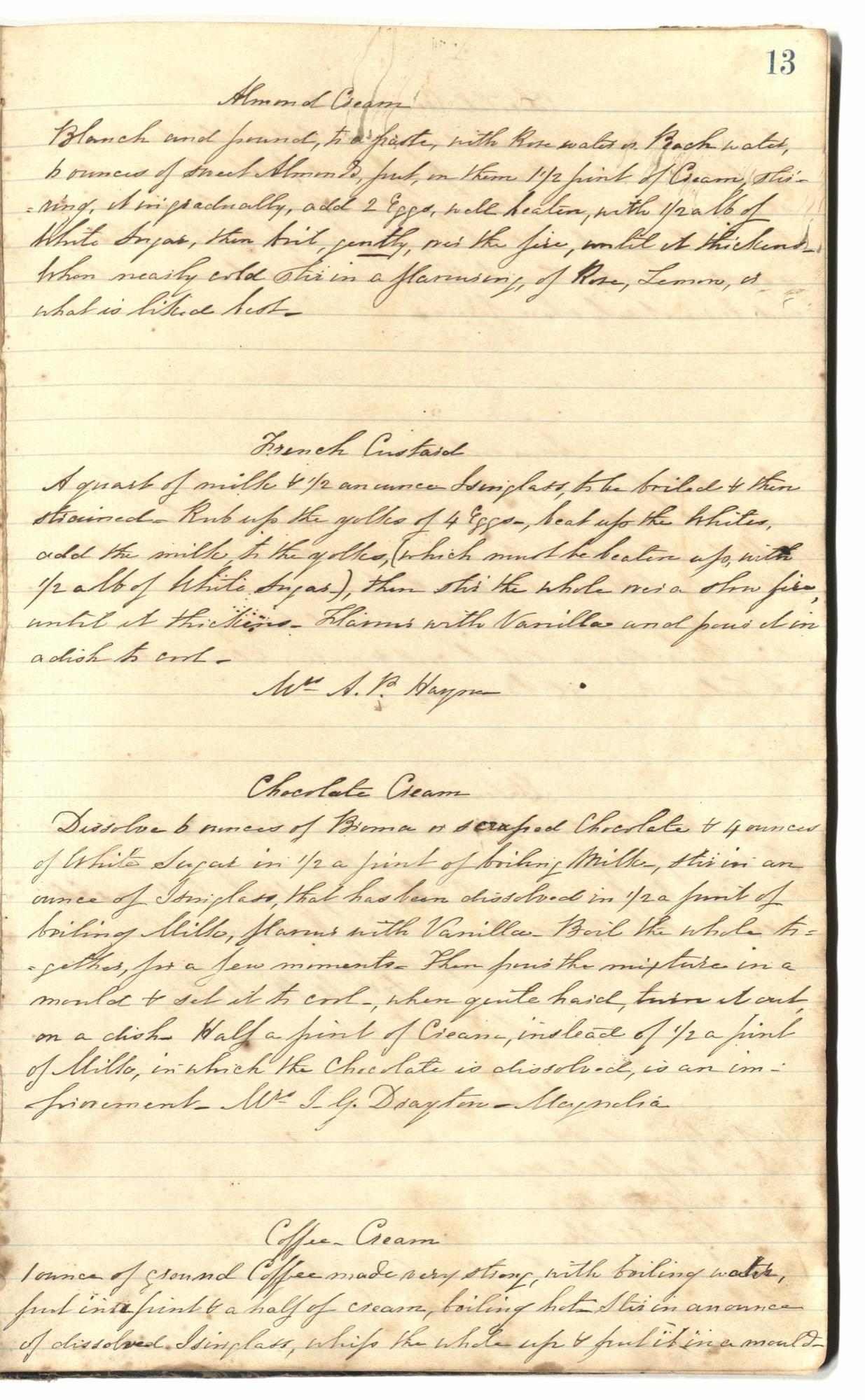 Mary Motte Alston Pringle Receipt Book, Page 17