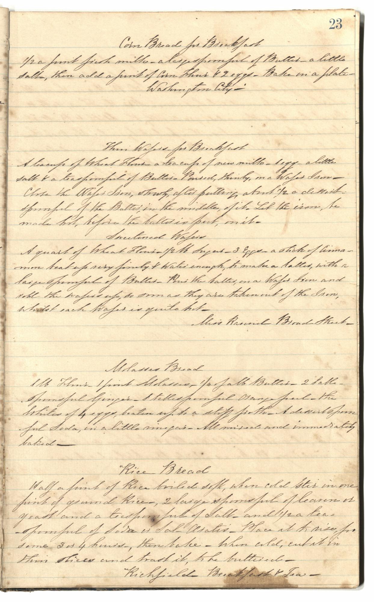 Mary Motte Alston Pringle Receipt Book, Page 27