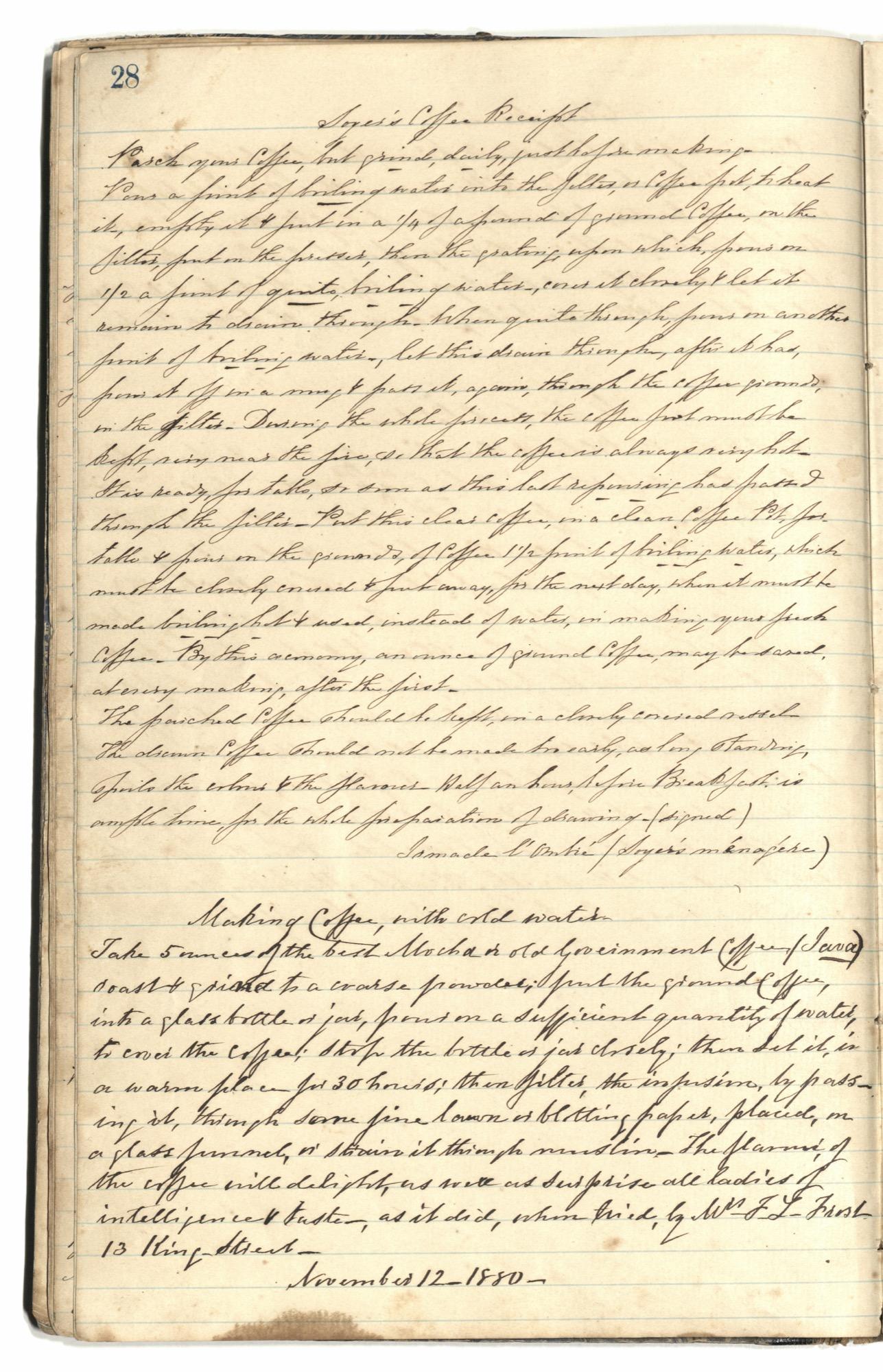 Mary Motte Alston Pringle Receipt Book, Page 32