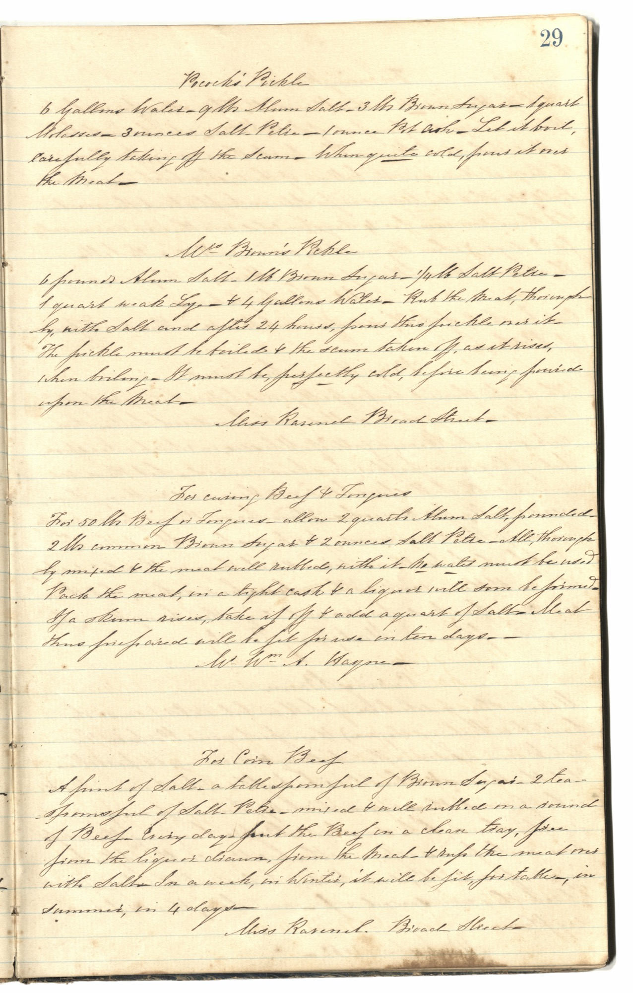 Mary Motte Alston Pringle Receipt Book, Page 33