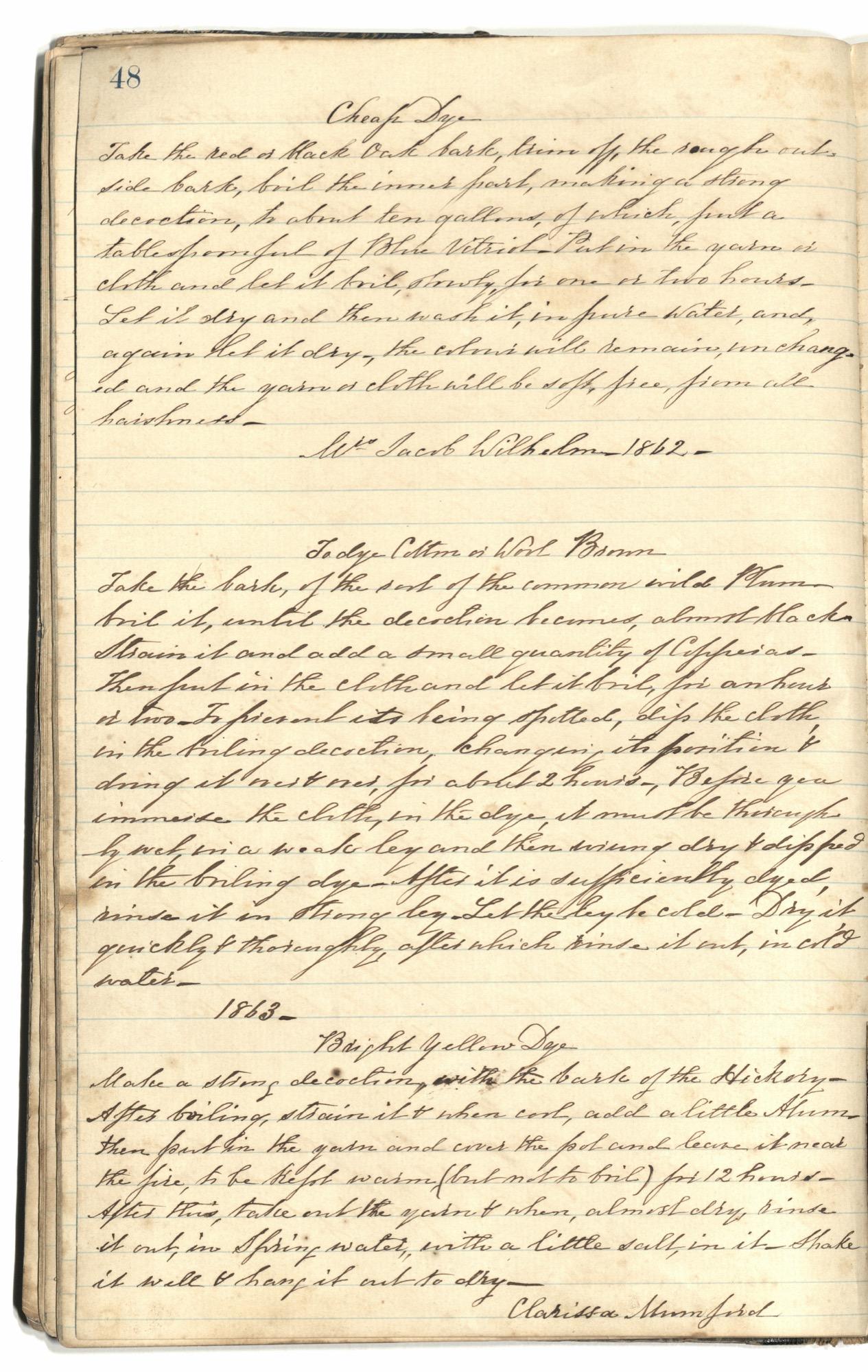 Mary Motte Alston Pringle Receipt Book, Page 52