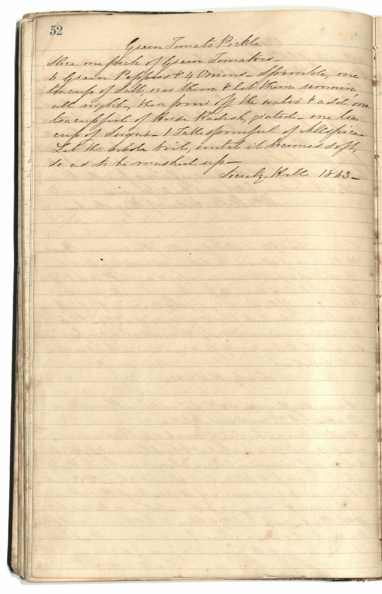 Mary Motte Alston Pringle Receipt Book, Page 56