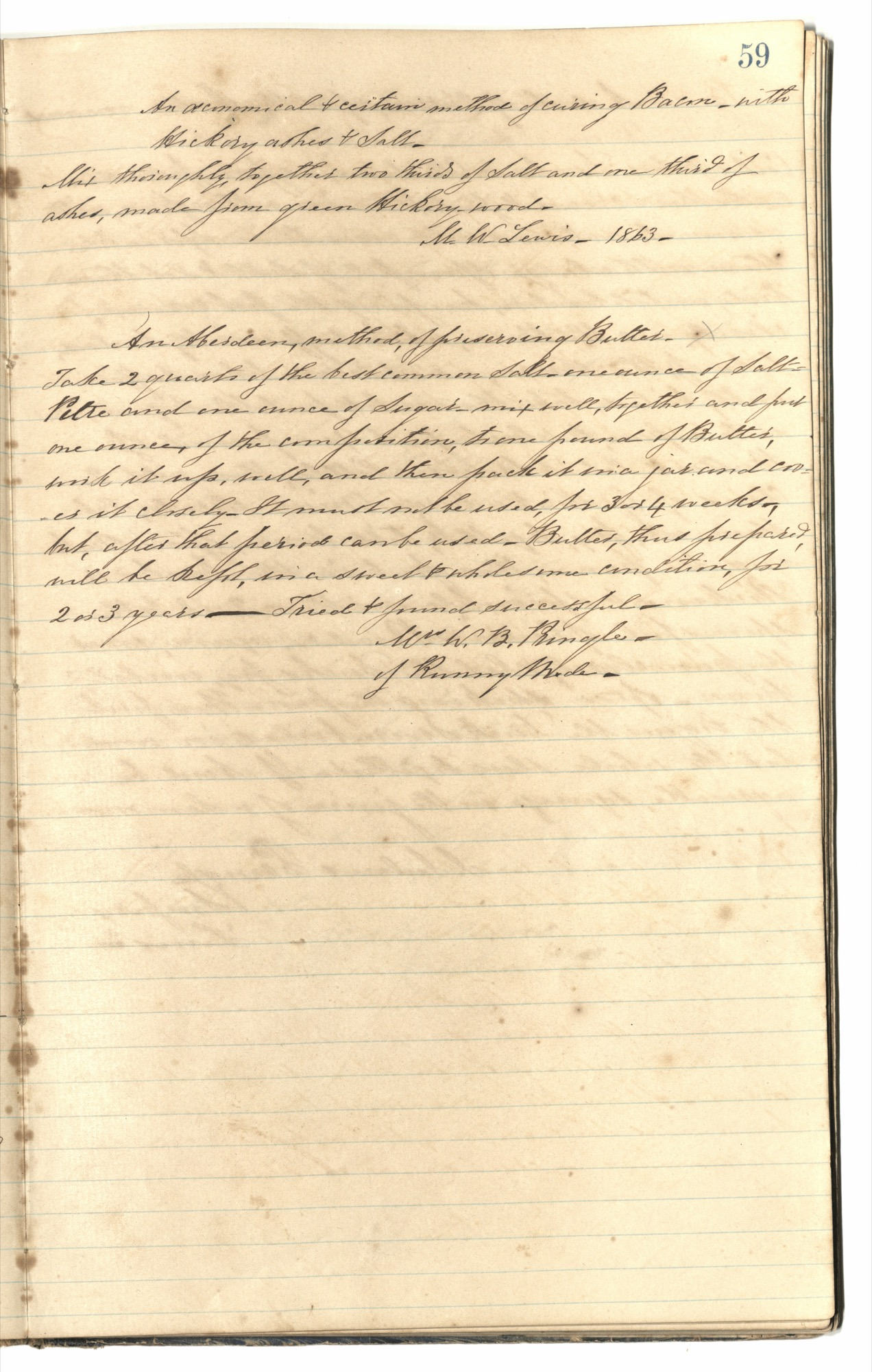 Mary Motte Alston Pringle Receipt Book, Page 64