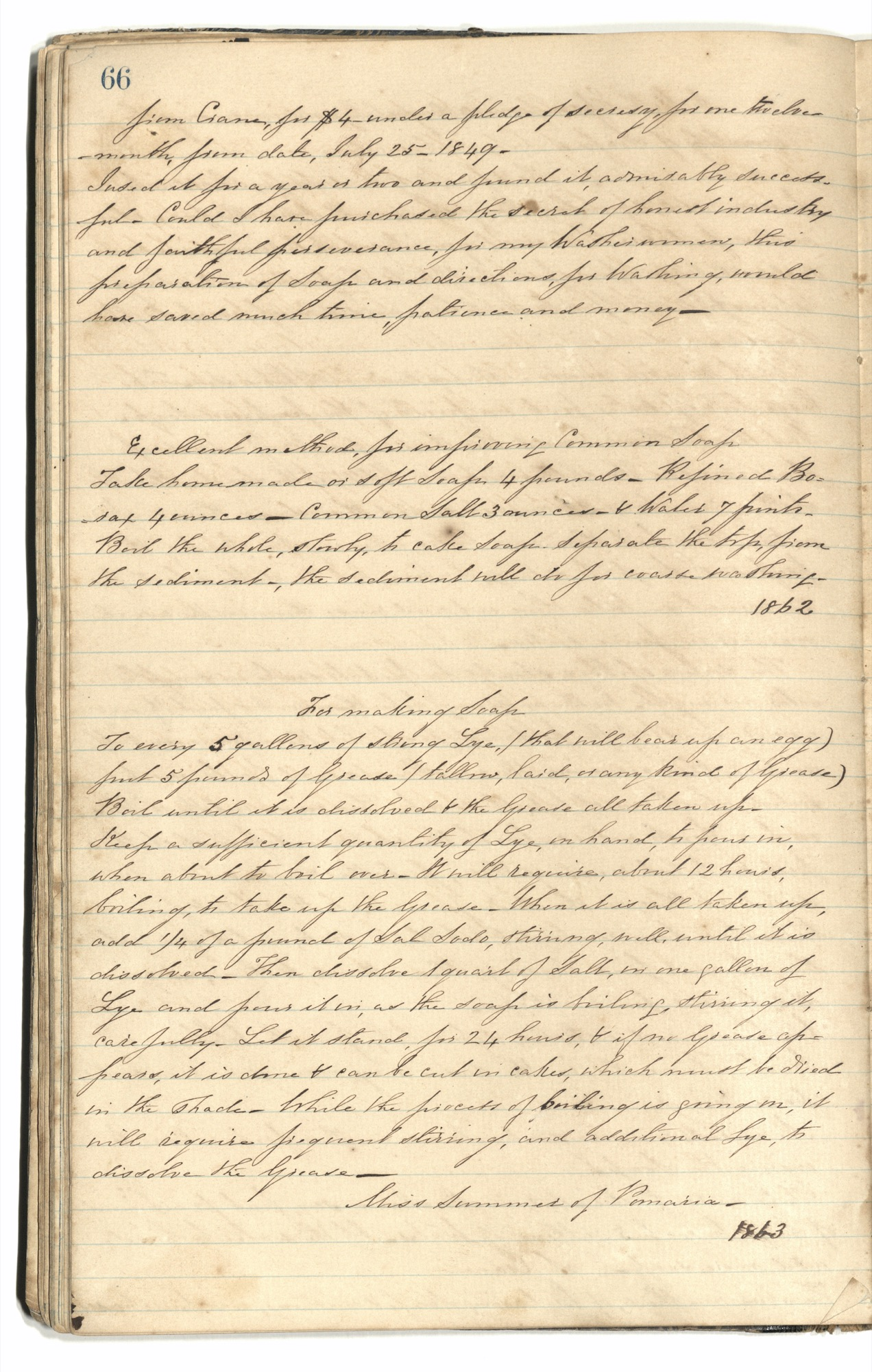 Mary Motte Alston Pringle Receipt Book, Page 71