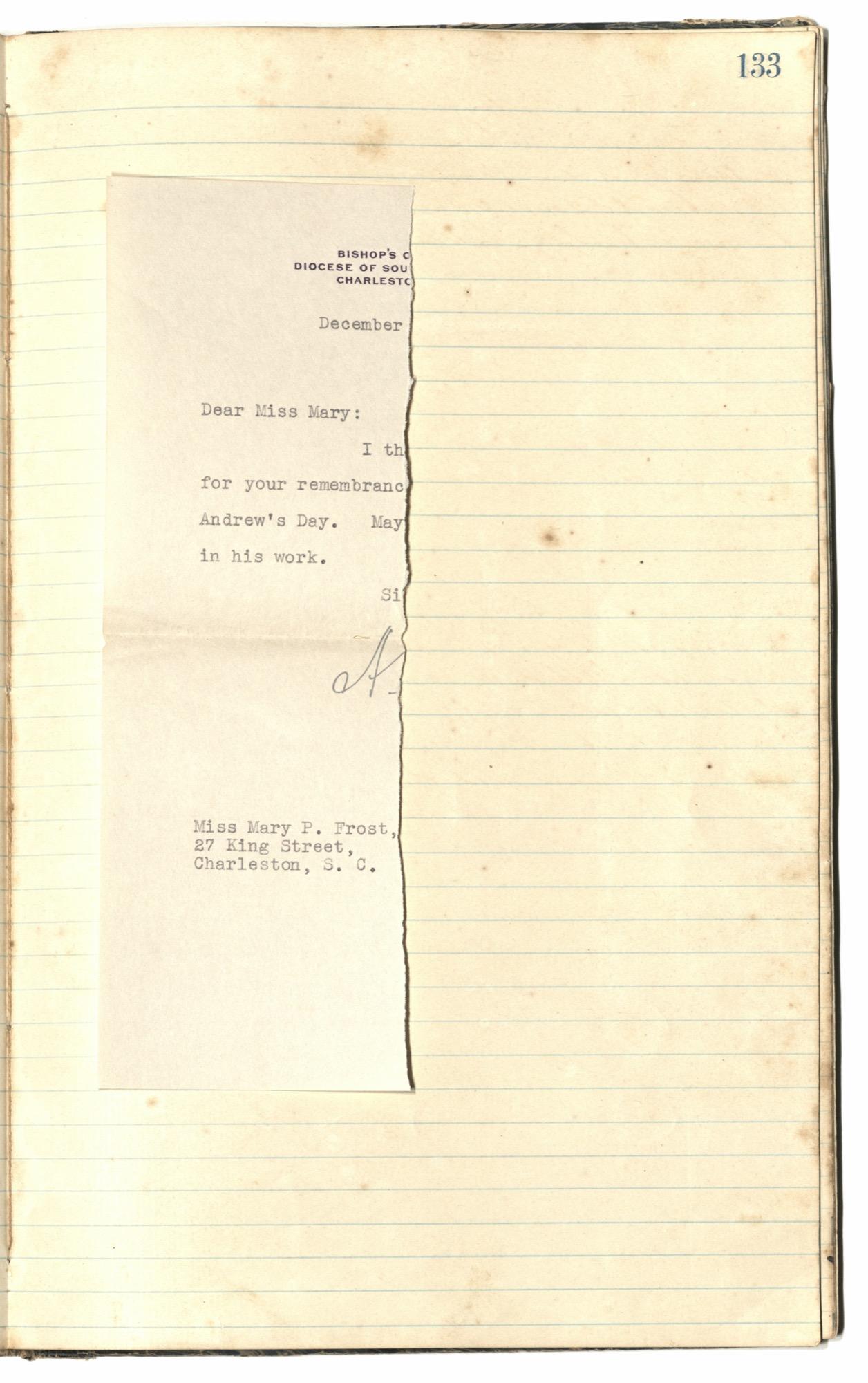 Mary Motte Alston Pringle Receipt Book, Page 118