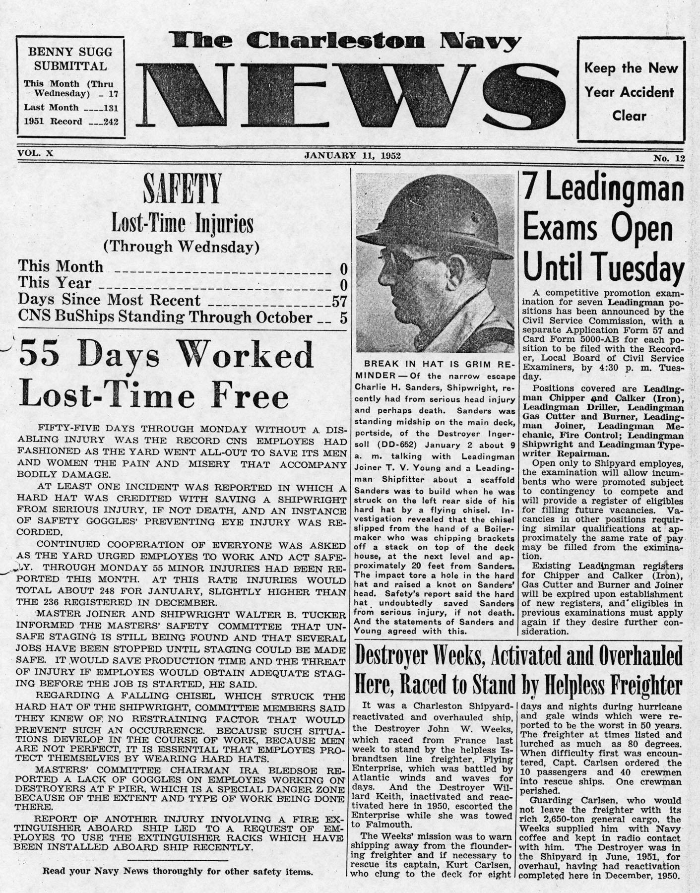 The Charleston Navy News, Volume 10, Edition 12, page i