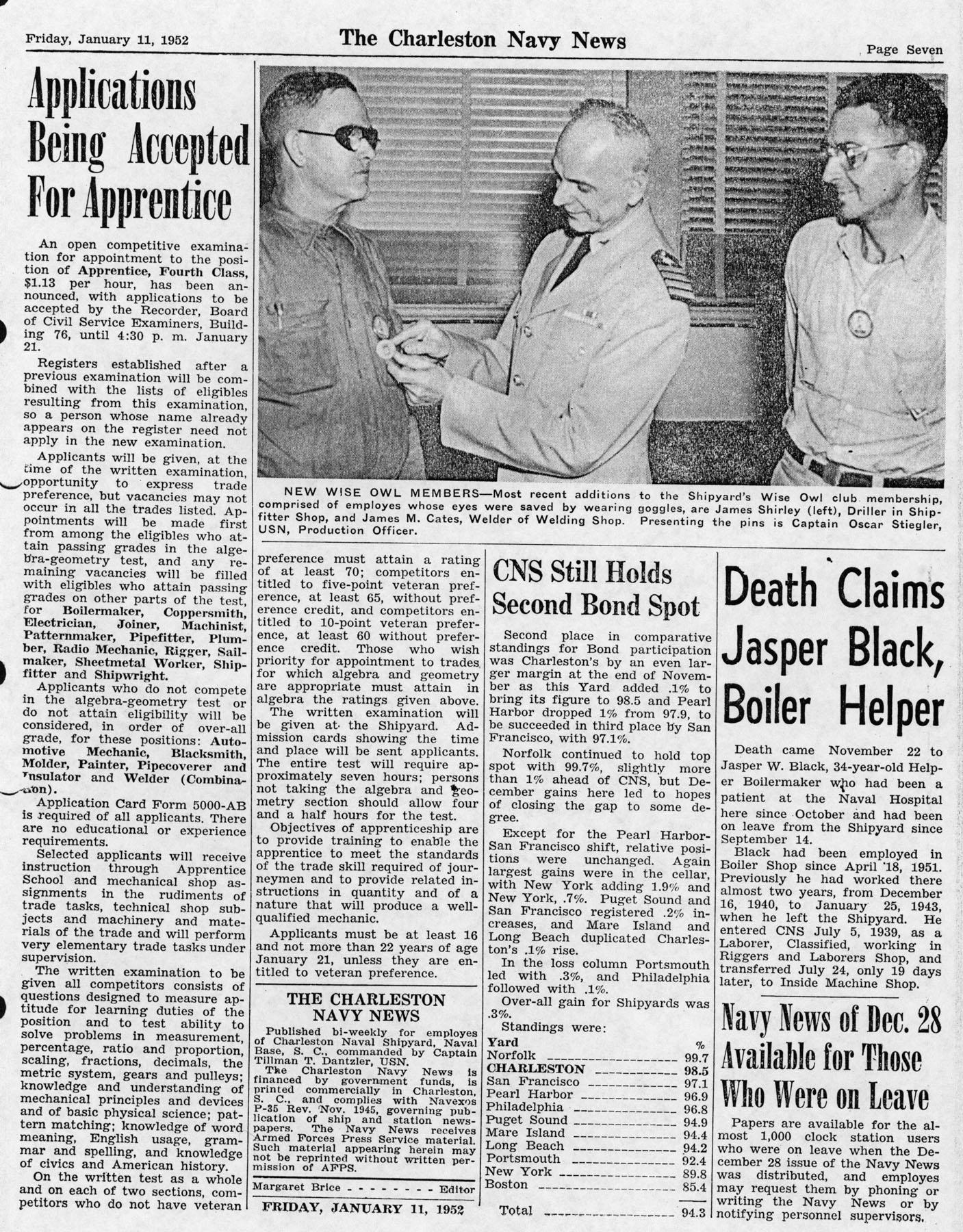 The Charleston Navy News, Volume 10, Edition 12, page vii