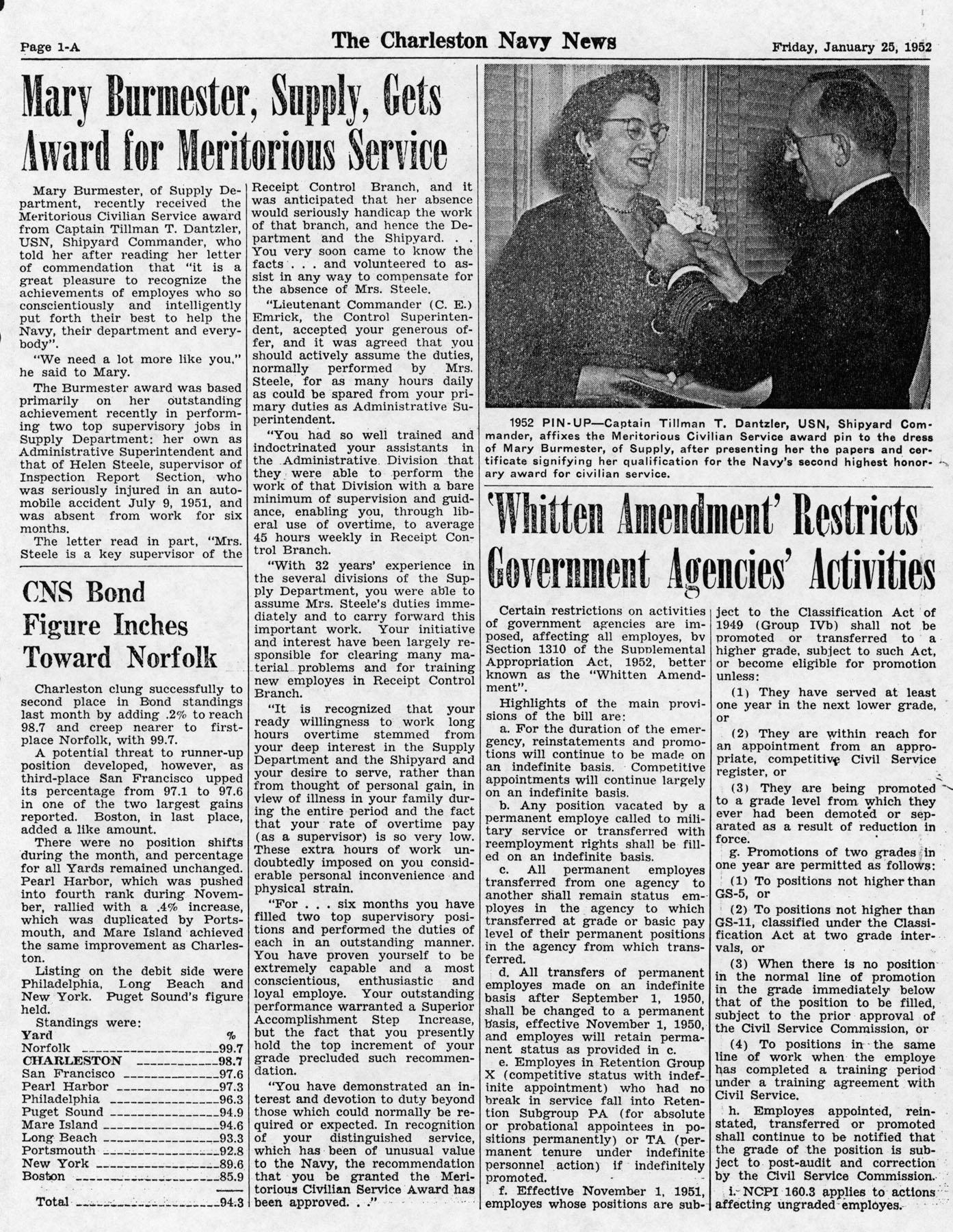 The Charleston Navy News, Volume 10, Edition 13, page ia