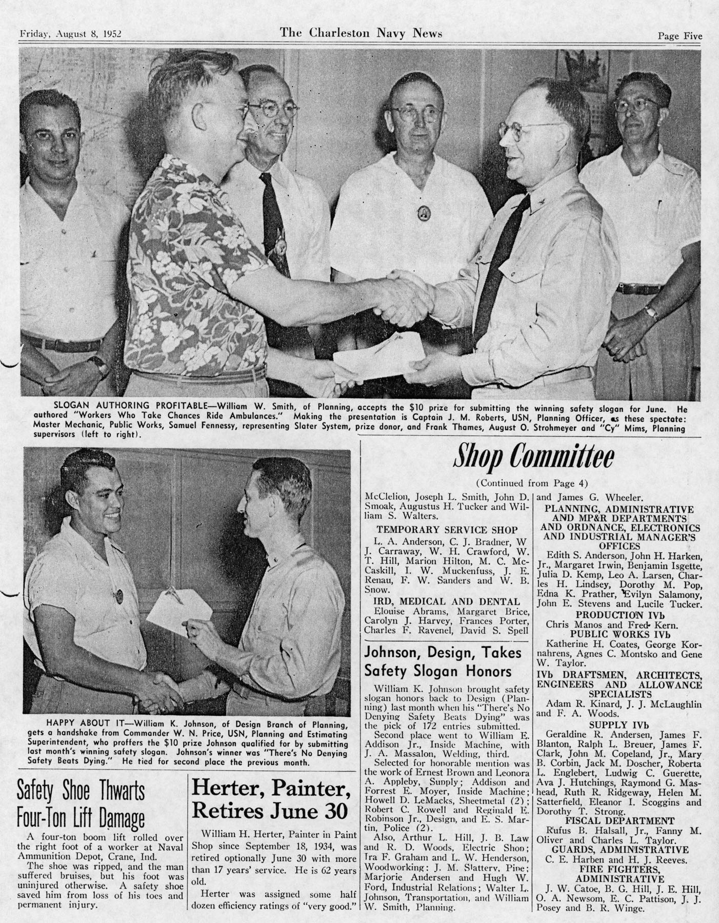 The Charleston Navy News, Volume 11, Edition 1, page v