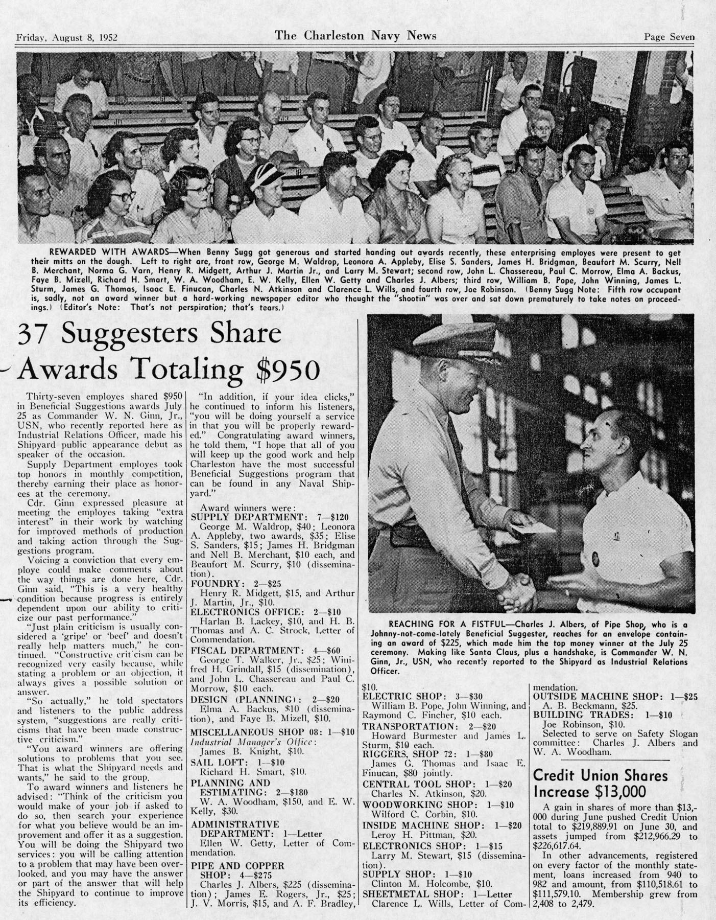 The Charleston Navy News, Volume 11, Edition 1, page vii