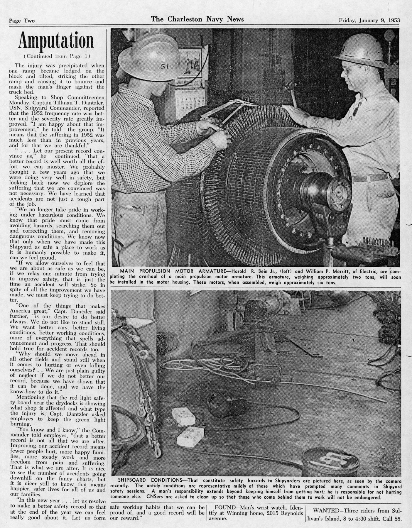 The Charleston Navy News, Volume 11, Edition 12, page ii