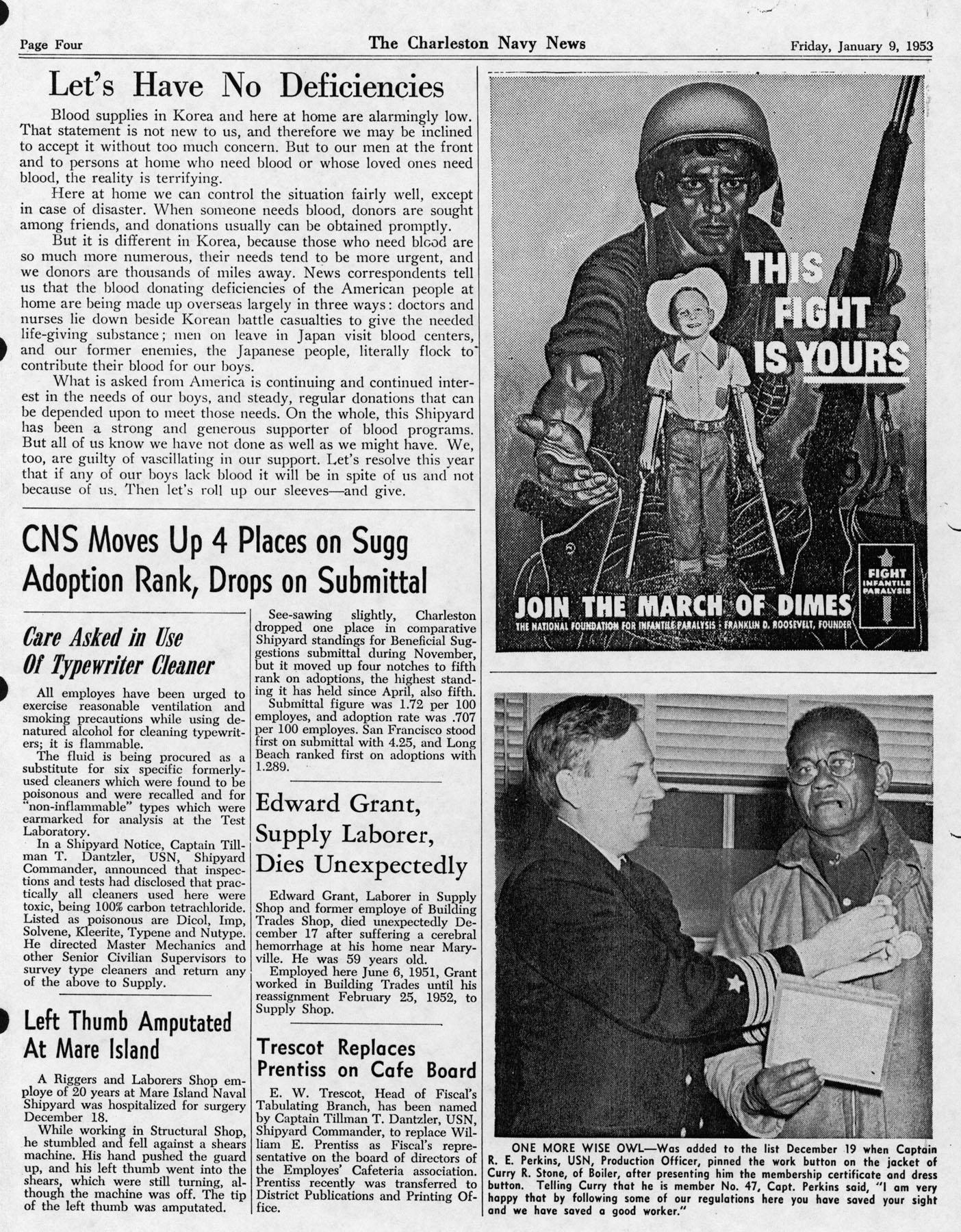 The Charleston Navy News, Volume 11, Edition 12, page iv