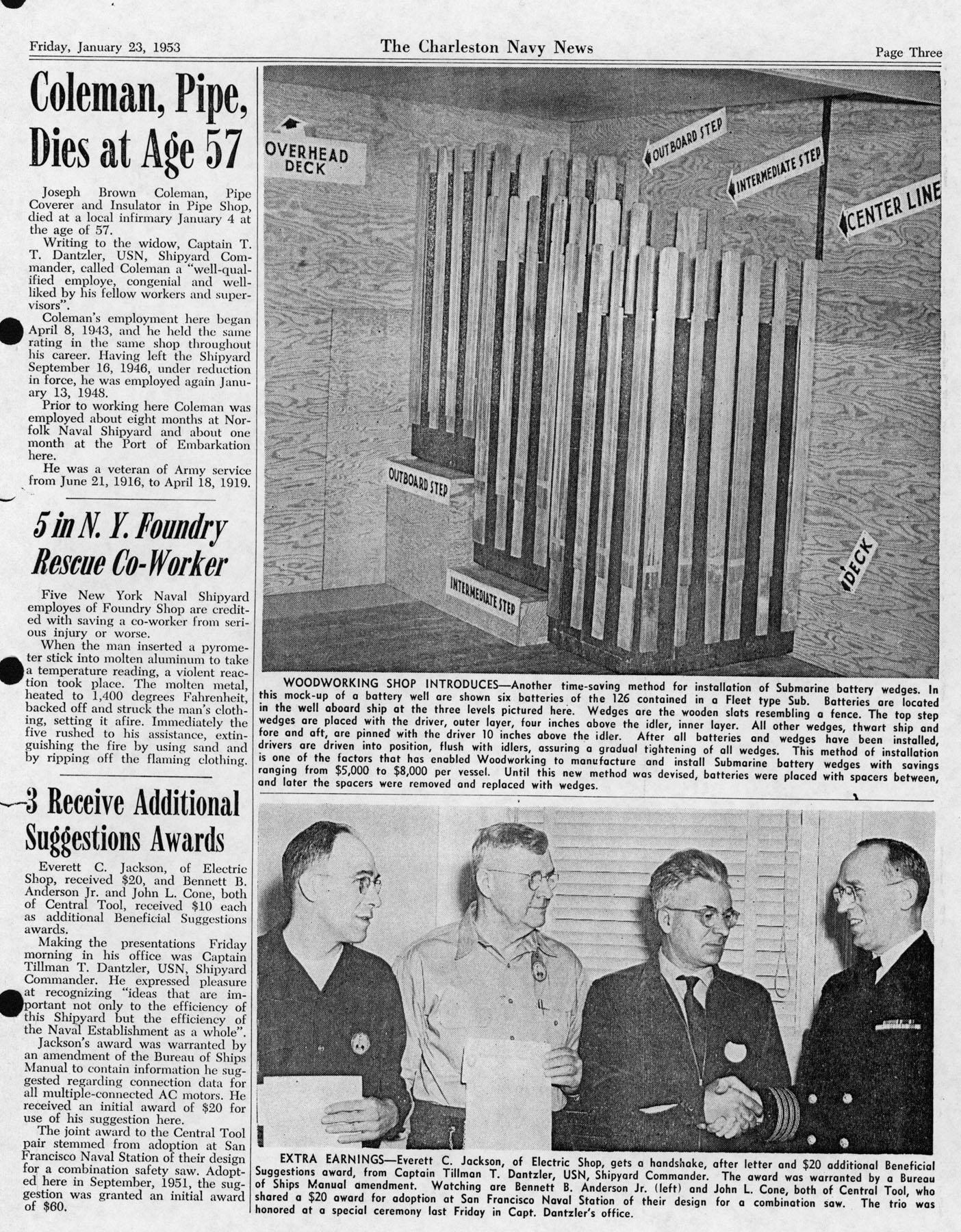 The Charleston Navy News, Volume 11, Edition 13, page iii