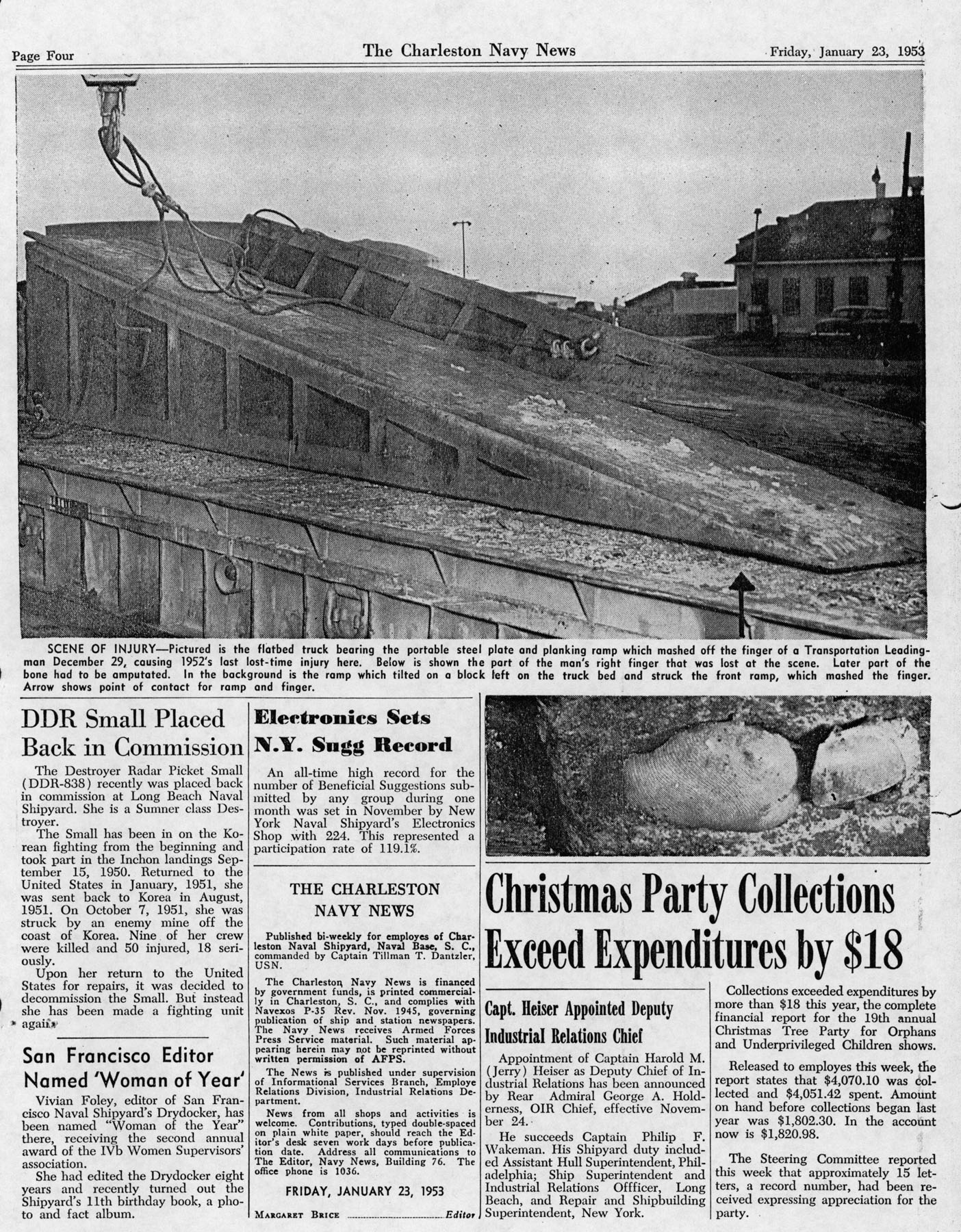 The Charleston Navy News, Volume 11, Edition 13, page iv