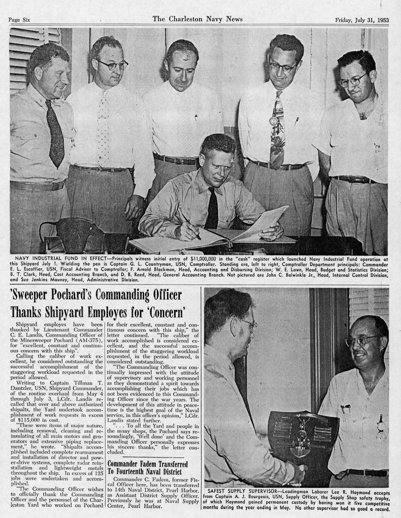 The Charleston Navy News, Volume 12, Edition 1, page vi